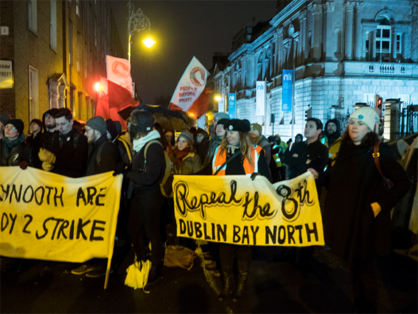 Figure 2- Images from the Strike 4 Repeal protest in March 2018