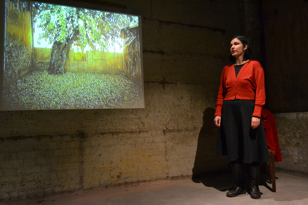 """Performance of """"Fragments and Seeds"""" by Vergine Gulbenkian. © Alexei Emam"""
