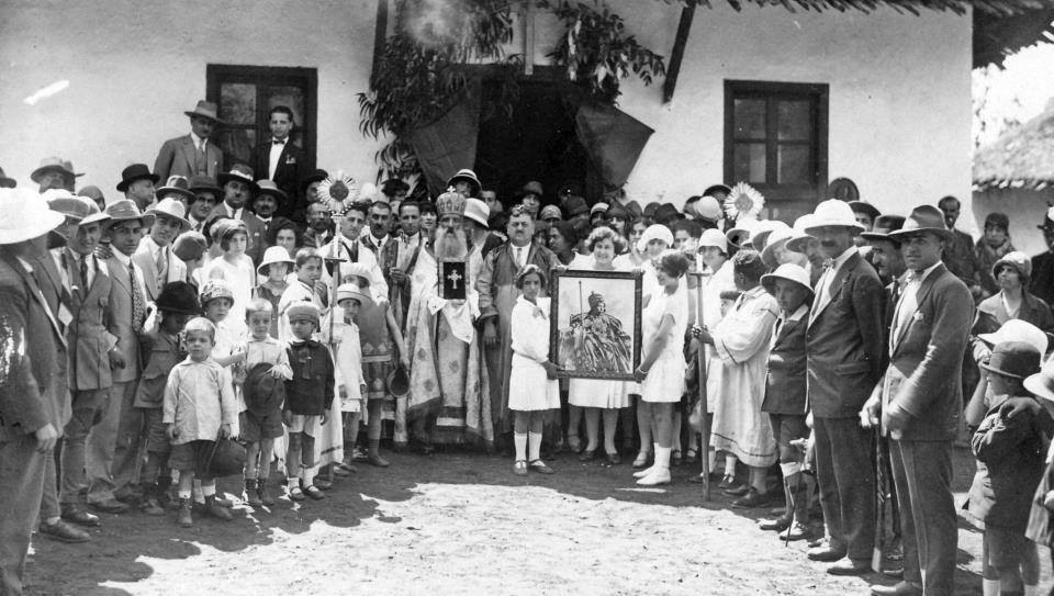 Armenian Community of Addis Ababa, Ethiopia, at St Mary's Church c1930.  Photo by kind permission of Alain Marcerou