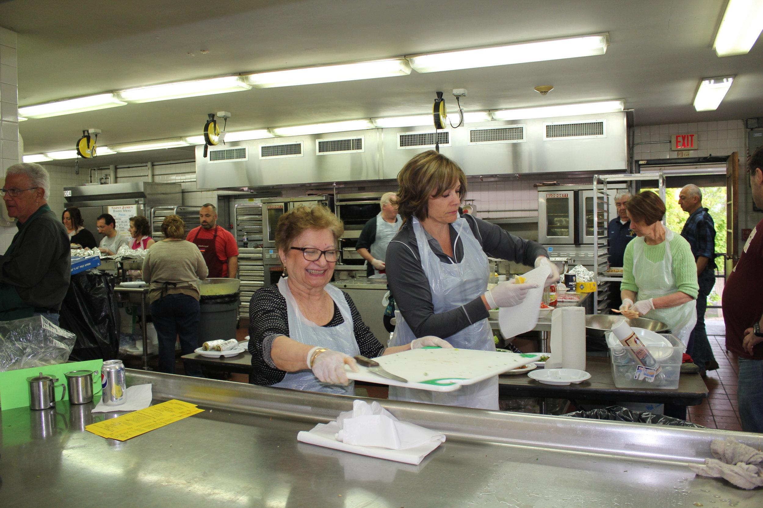 Making dinner at Hye Café, St James.