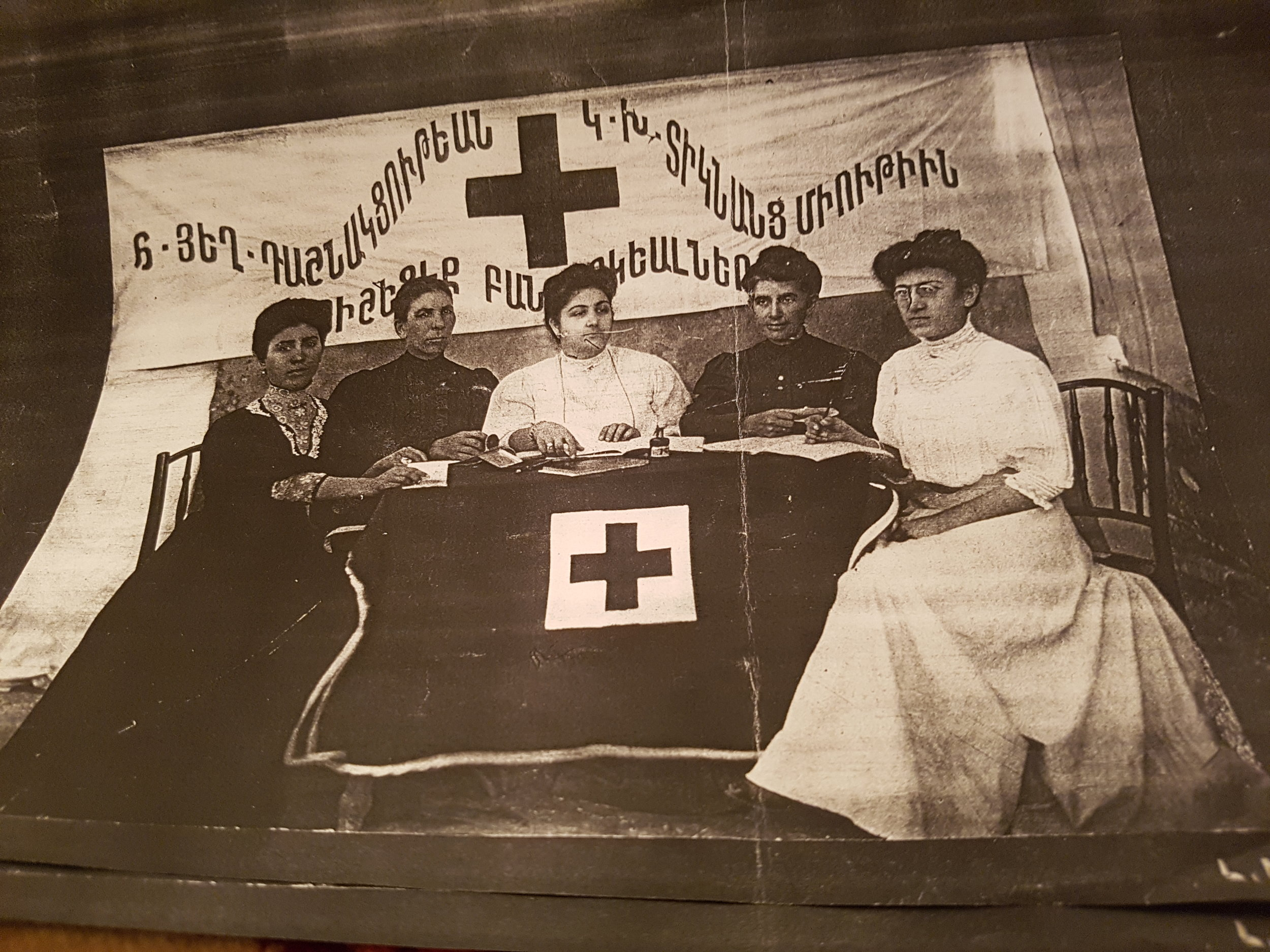 Christine Varvarian's grandmother on the right hand side of the photo-in 1910 ARF's red cross ladies commitee in Tanta-a city between cairo and alexandria (1.jpg