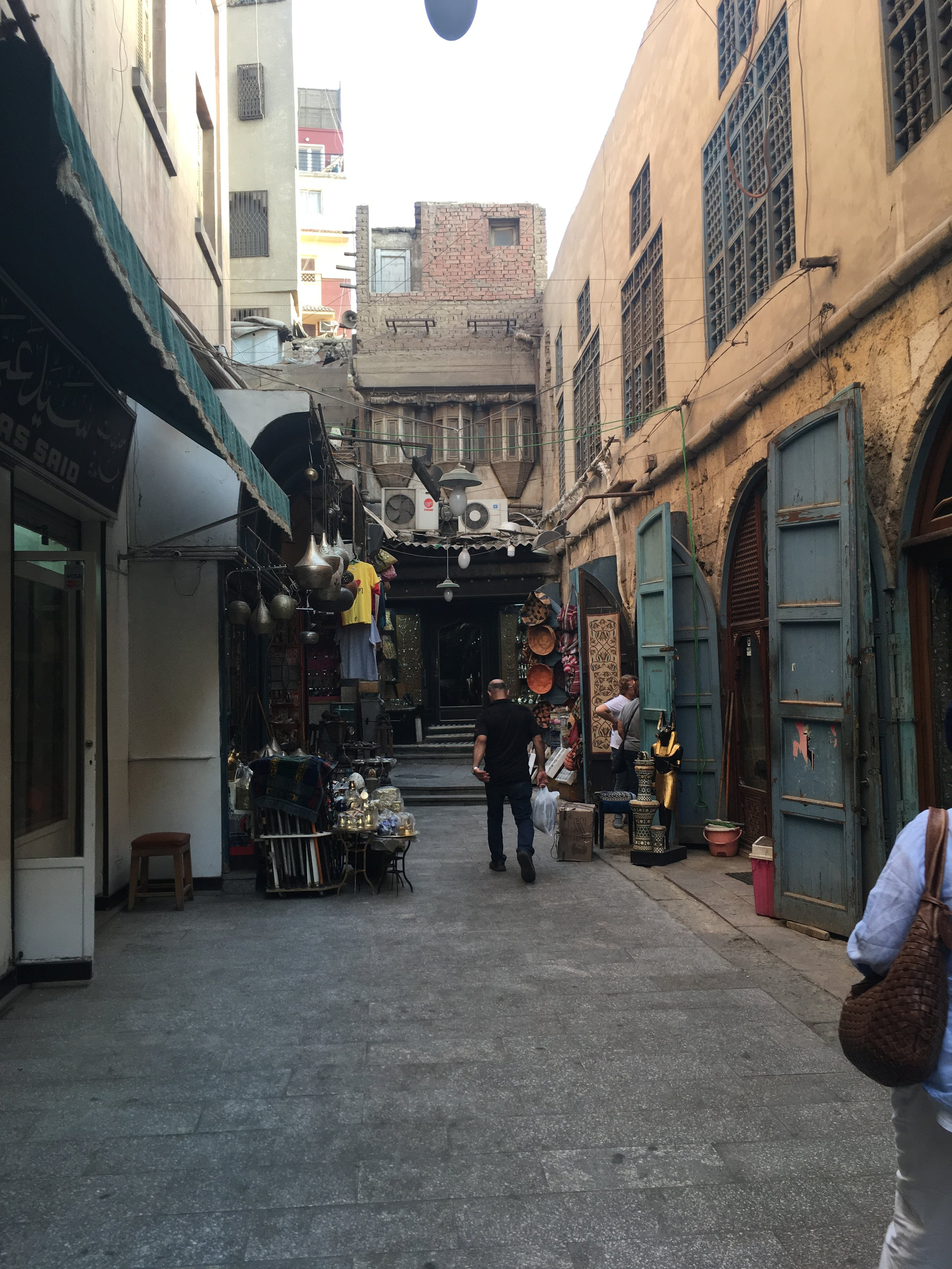 The way to Jeweller Varouj Tchilingirian's office where we conducted the interview-old market Khaan el Khalili (1).JPG