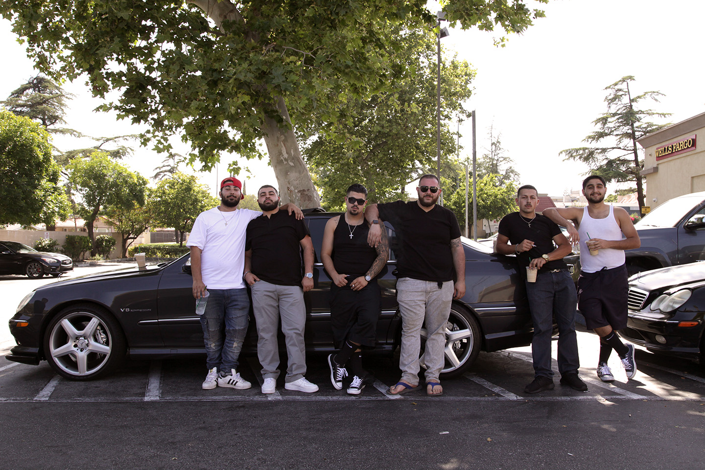 Armenian men in Starbucks parking lot