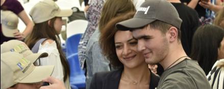 Davit Sargysan with First Lady Anna Hakobyan