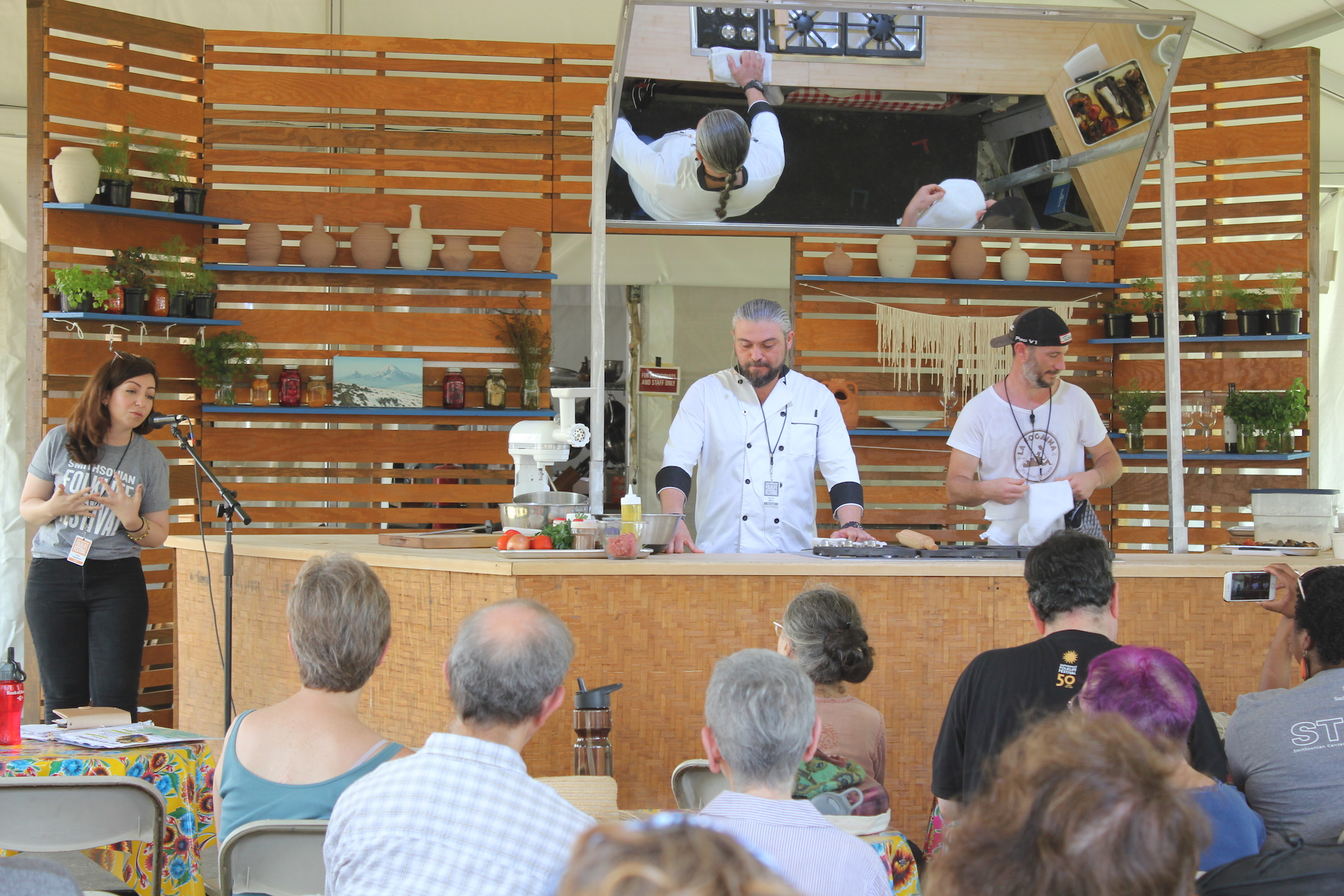 Cooking demonstrations by Armenian chef Antranig Kilislian and a Catalan chef