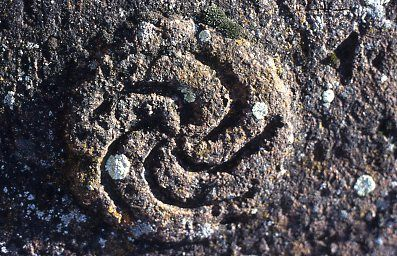 Ancient carved stone eternity symbol