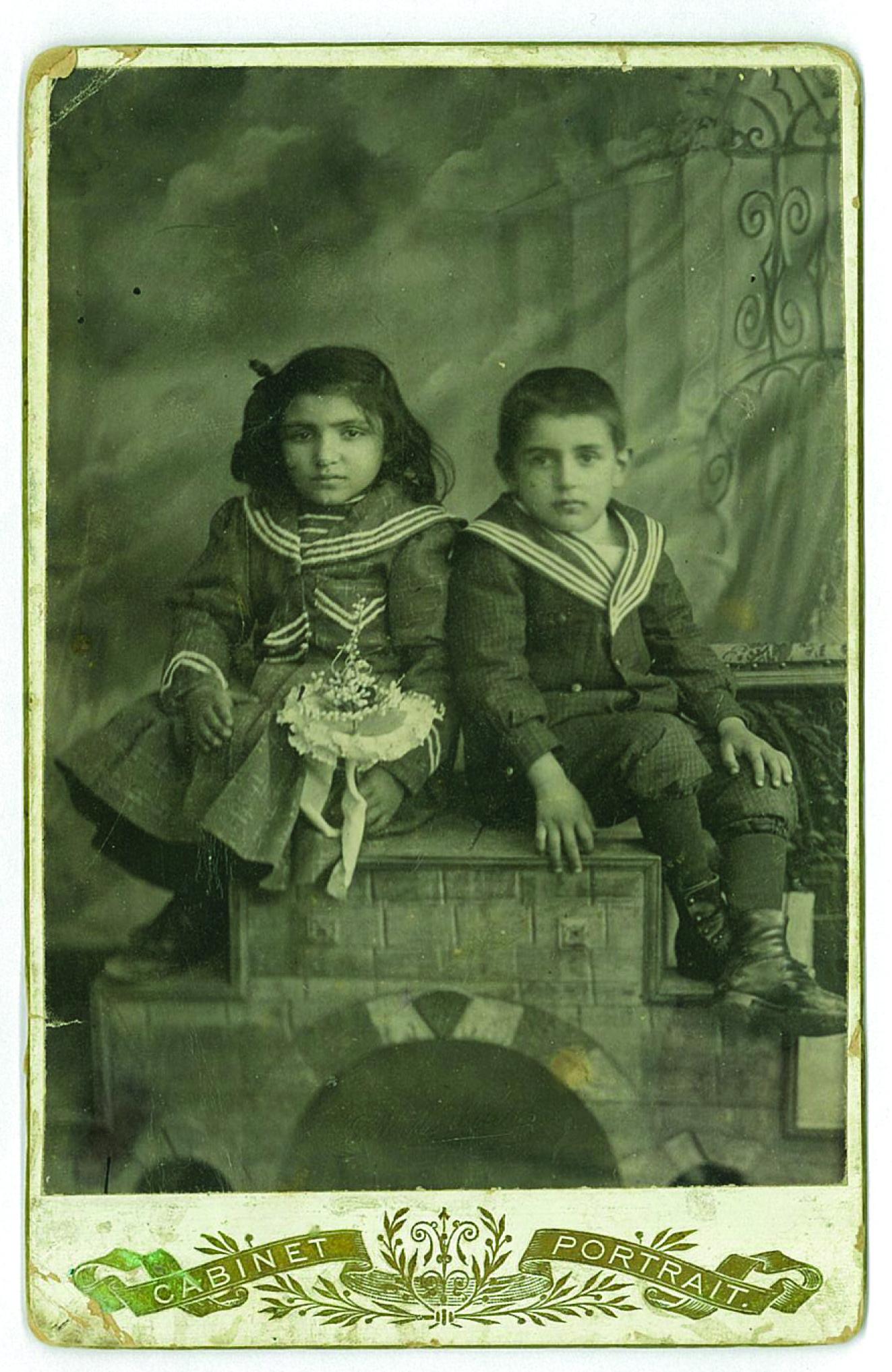 Arshaluys and Loutfig Yeghiayan, Adana, 1906