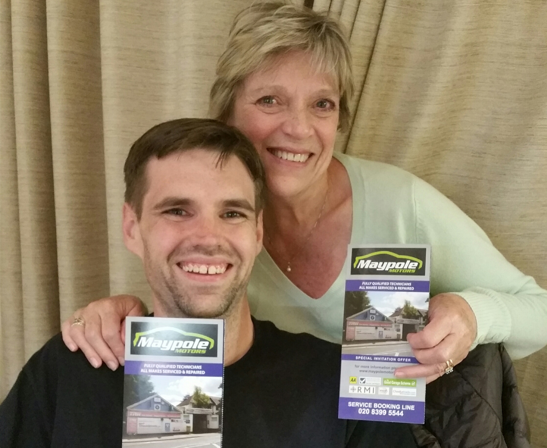 Mrs Johnstone from Surbiton, bought our EasyCarCare Promotion for her son and herself, for their local Partner Garage in Surbiton