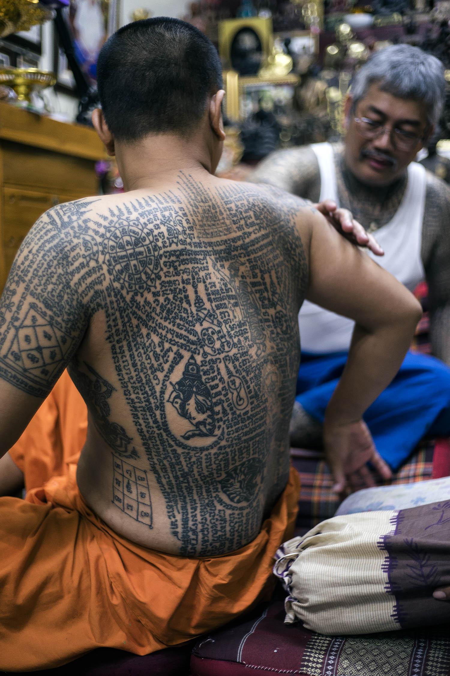 monk tattoo