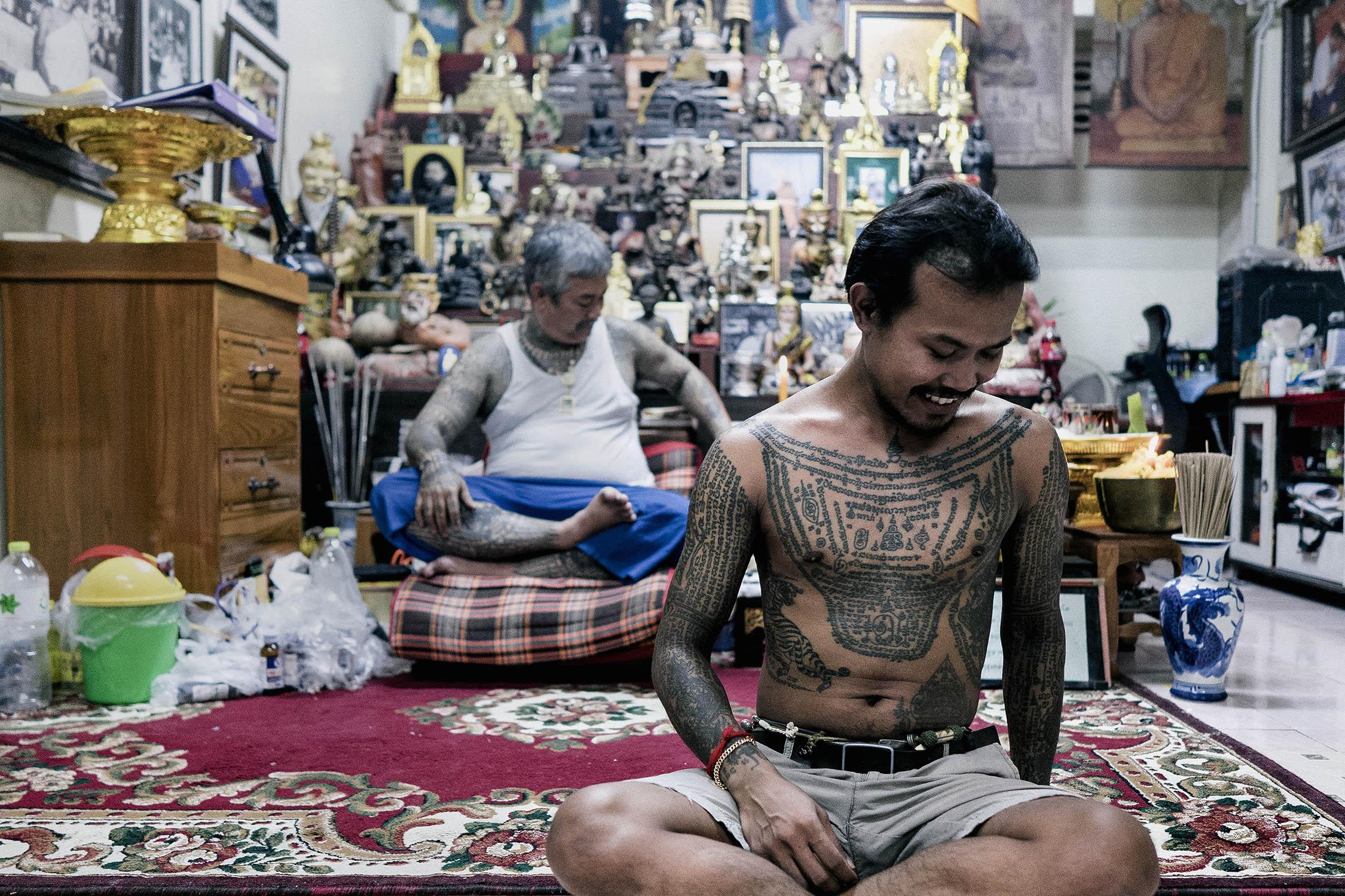 Boy sak yant tattoo