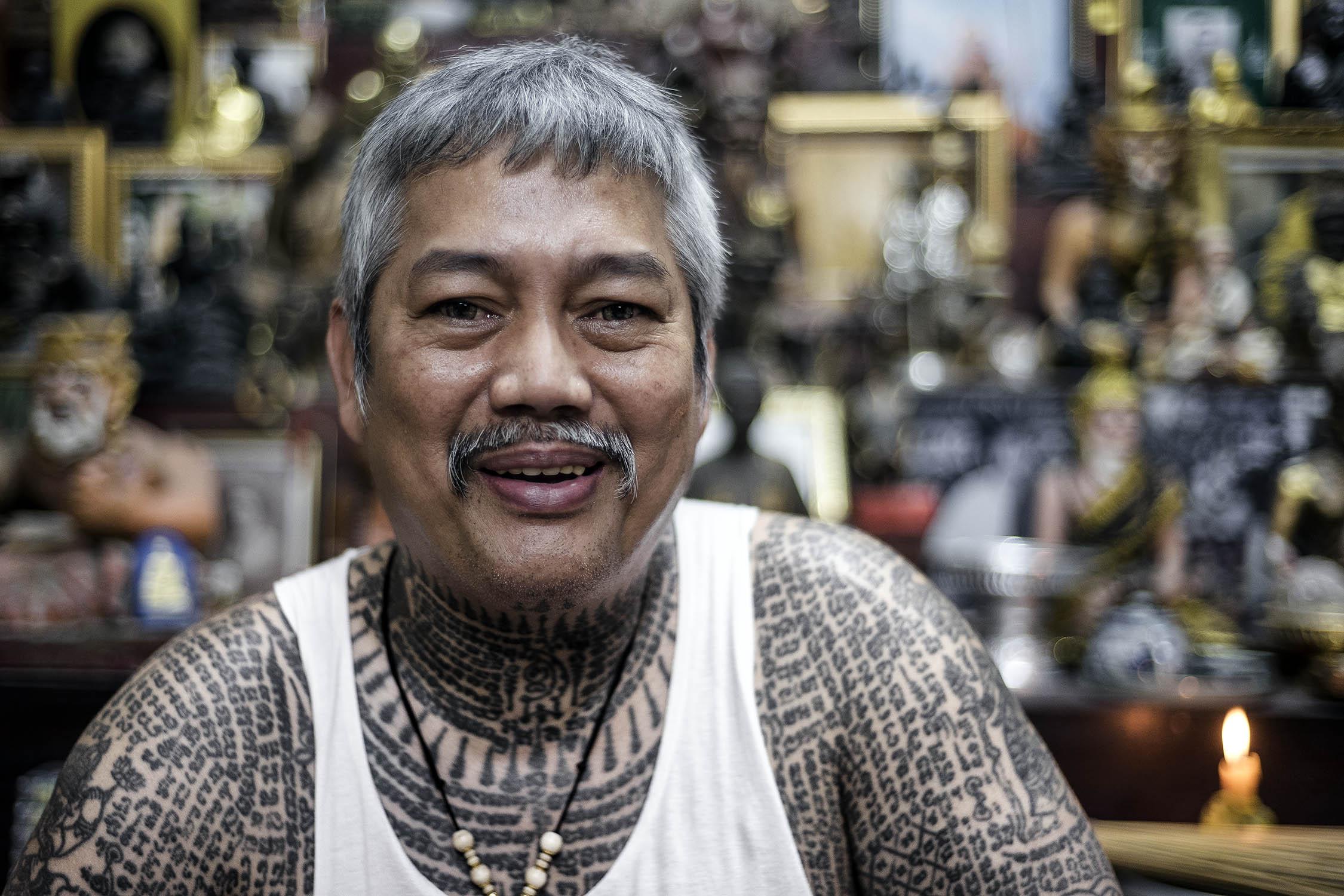 Ajarn Dum Buddhist Tattoo