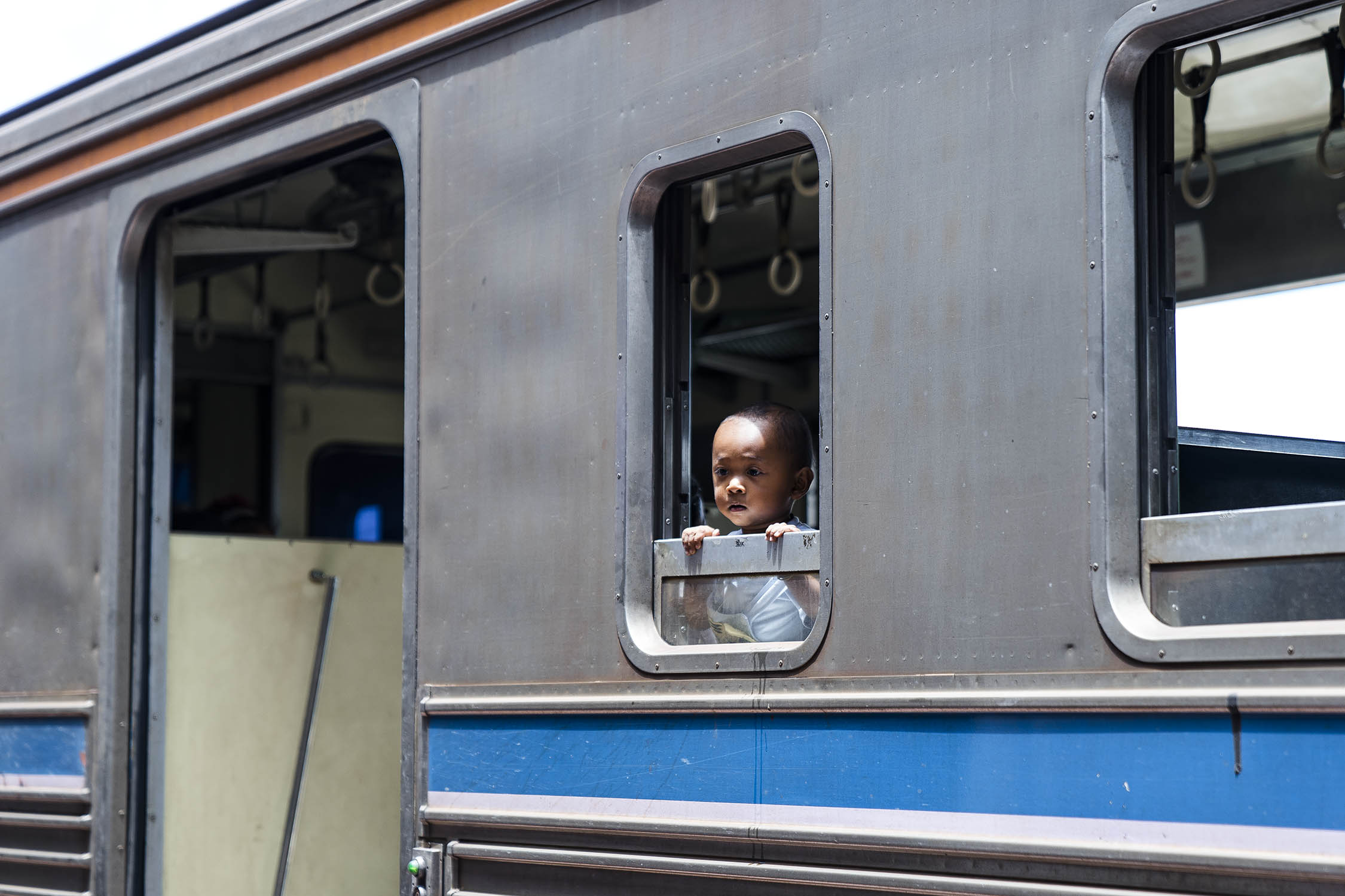 on the train, bangkok