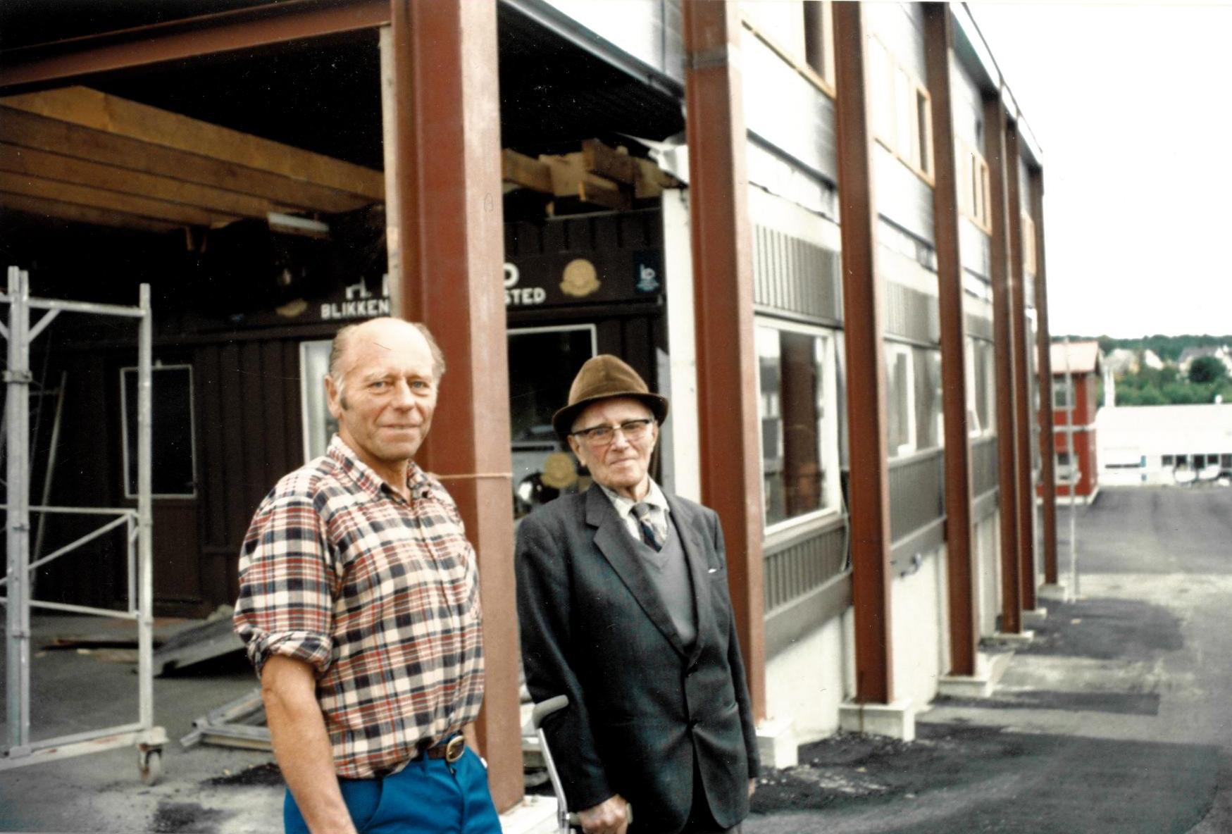 Henrik Nygård og læremestereren hans, Alf Apnaseth (1989).