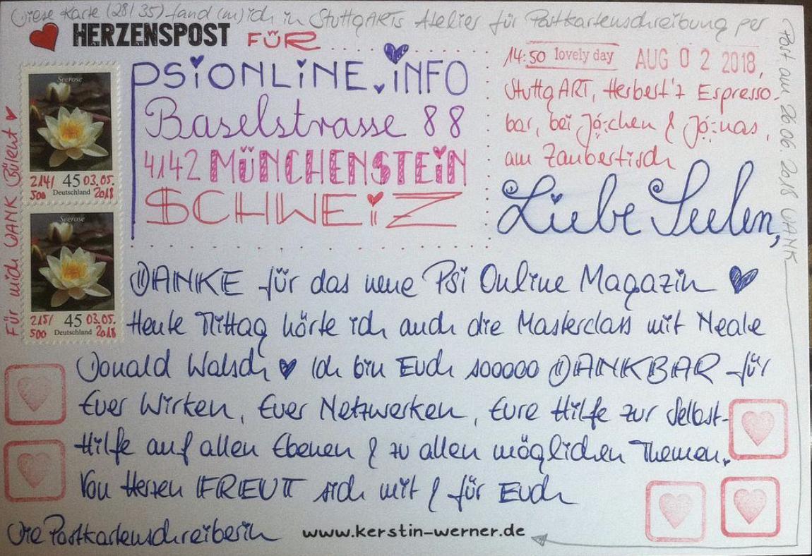 Auch in die Schweiz gehen die Postkarten.