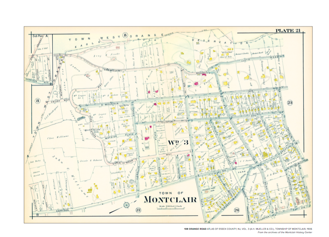 """PERSONALIZED - 1906 ATLAS OF ESSEX COUNTY, NJ, VOL. 3 (A.H. MUELLER & CO.), poster size is 24"""" x 36"""" and printed on high quality paper. The plate will reflect your address of choice and the poster will be personalized with that address. $125  NOT-PERSONALIZED - You may also purchase an non-customized version of Plate 24, the area around Lackawanna Plaza, also poster size 24"""" x 36"""" and printed on high quality paper. $75"""