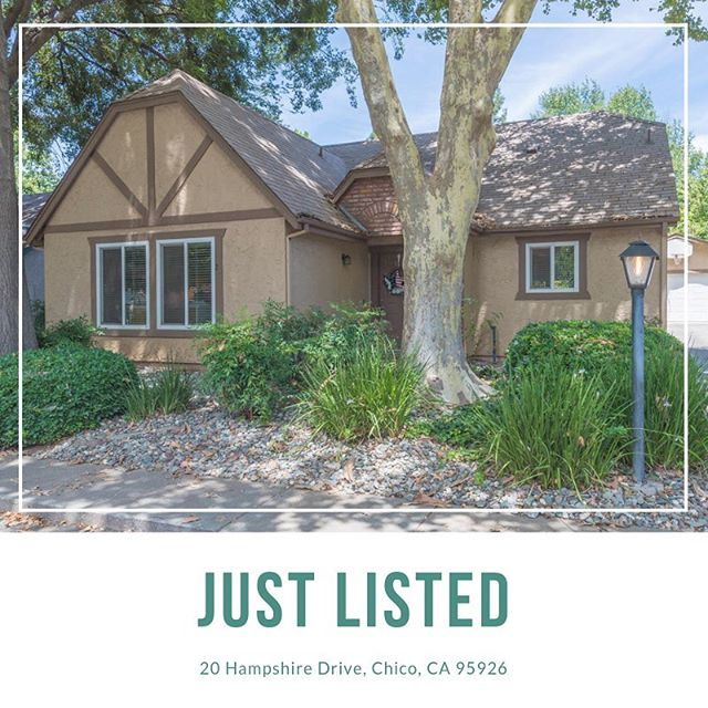 ✨New Listing✨  20 Hampshire Drive, Chico • • • 🛏 3 Bedroom 🛁 2 Bathroom 📐 1,347 SqFt • • • This adorable home is located in the highly desired and secluded Hollybrook neighborhood. • • #coldwellbanker #realestate #coldwellbankerdufour #chico #chicoca #home #house #seller #homebuyer #buyer #properties #homesearch #househunting #justlisted #broker #realtor