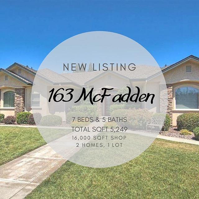 ✨New Listing✨ 163 McFadden Lane 🛏 7 Bedrooms 🛁 5 Bathrooms 📐 5,249 Sqft 🏡 2 Homes, 1 Lot Check out our newest listing at 163 McFadden Lane in Chico. This luxurious original owner custom built home sits on 13.45 acres, beyond a private gate and through 10 acres of walnuts. • • • • • • #newlisting #coldwellbanker #buyer #seller #buy #sell #realtor #luxurious #homeforsale #home #forsale #house #chico #chicoca #coldwellbankerdufour
