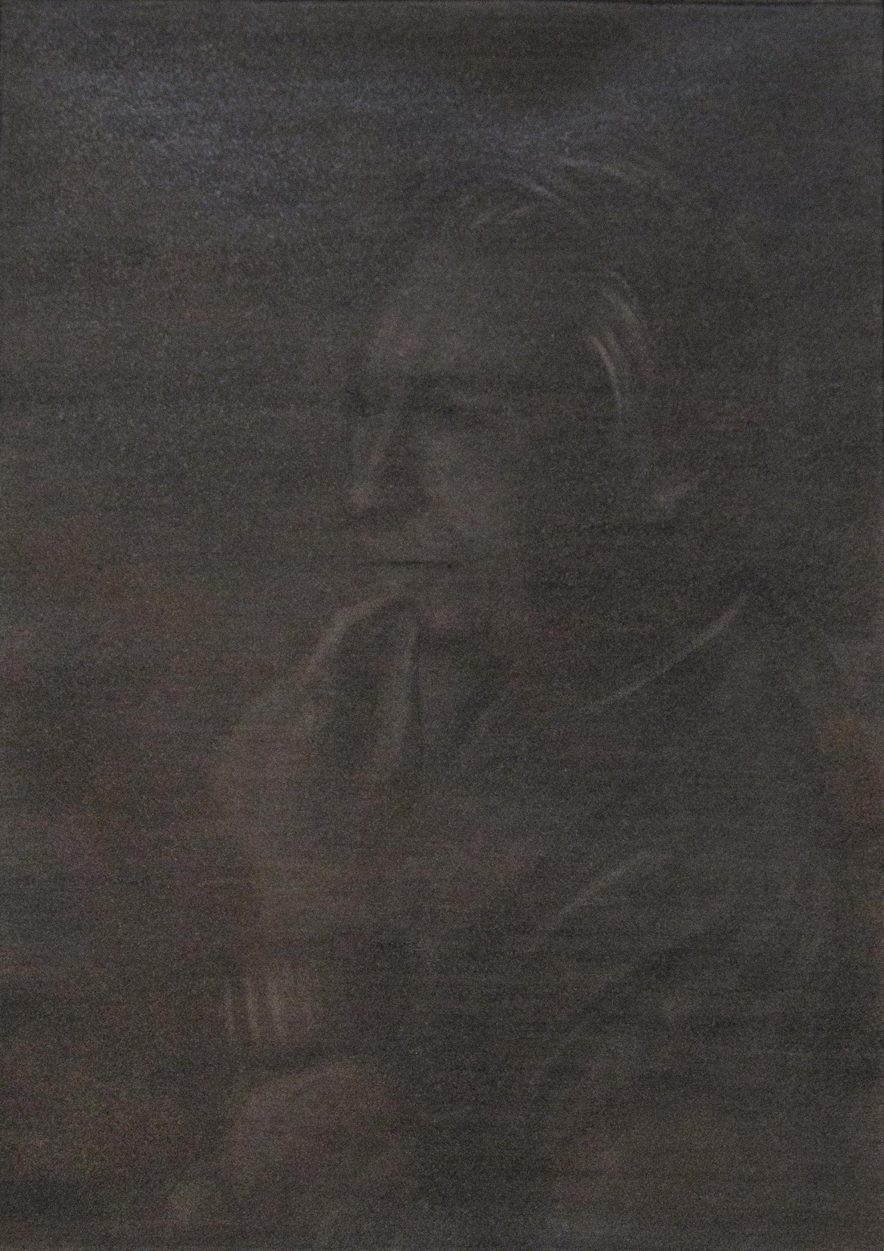 """Jérémie Bennequin, """"Roland Barthes"""", fusain sur papier, 20 x 29 cm, 2015"""