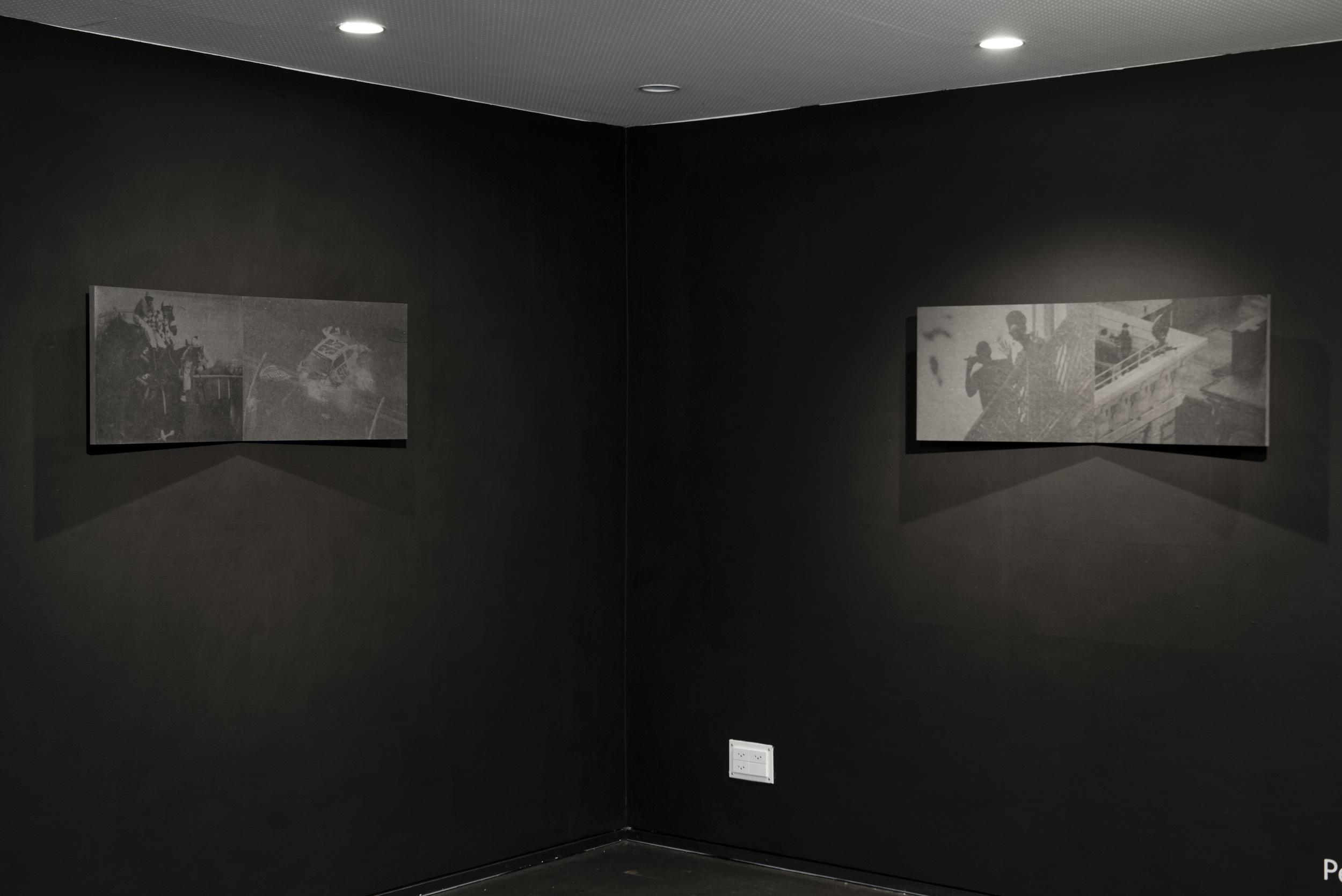"""Myriam Ziehli, """"Sans Titre"""", de la série """"Sins and Miracles, sérigraphie, 100 x 37 cm, 2013, Ed. 1/2 + 1 AP (1)"""