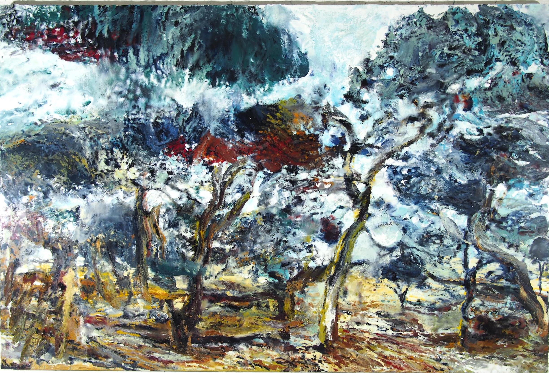 Philippe Cognée, Etude pour un paysage en Namibie, 195 x 130 cm, 2016