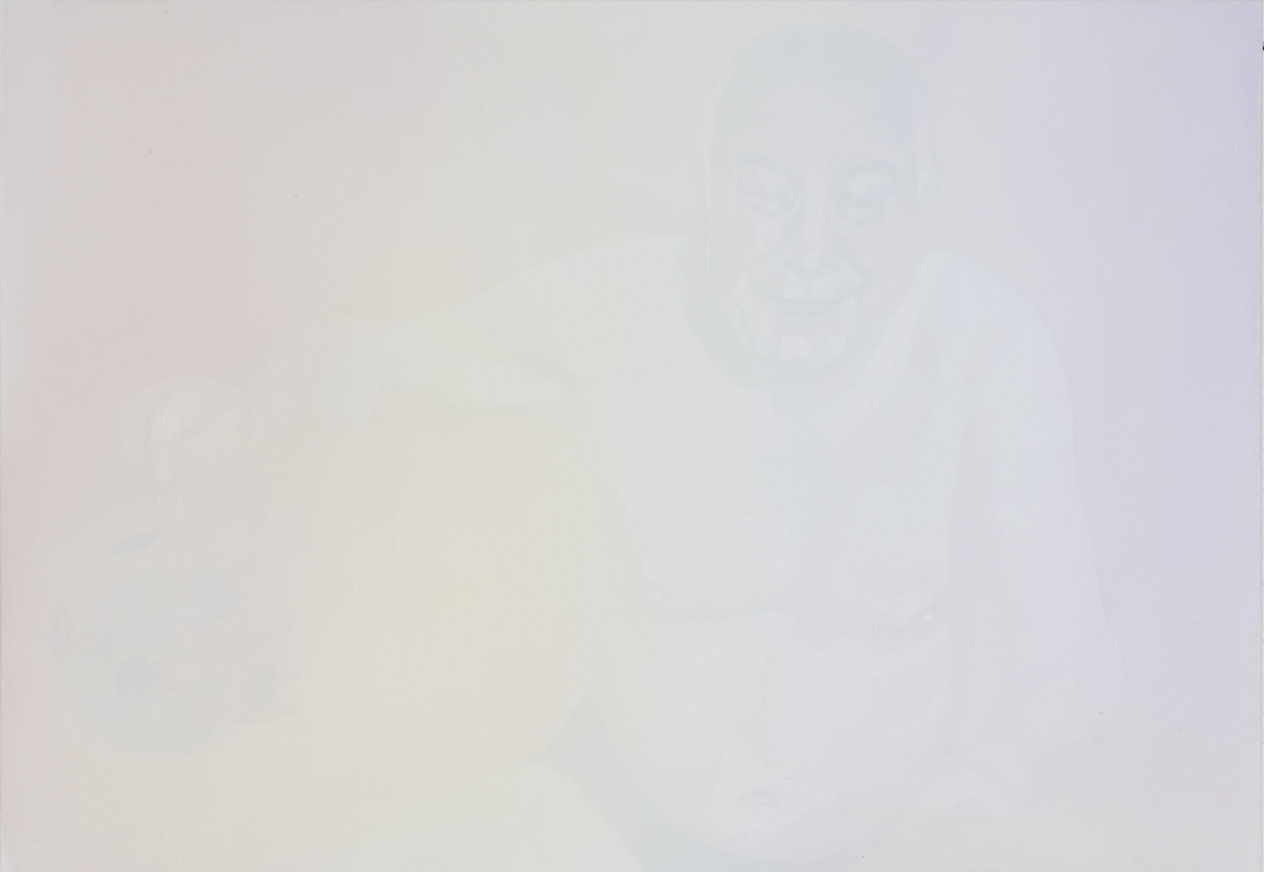 """Luc Andrié, """"Globe (1)"""", huile sur toile, 135 x 94 cm, 2016"""