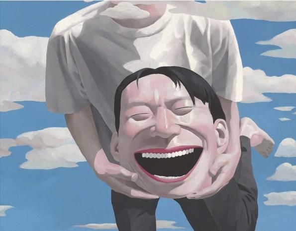 """Yue Minjun, """"Sans titre"""", 1994, Huile sur toile, Collection privée © Yue Minjun"""