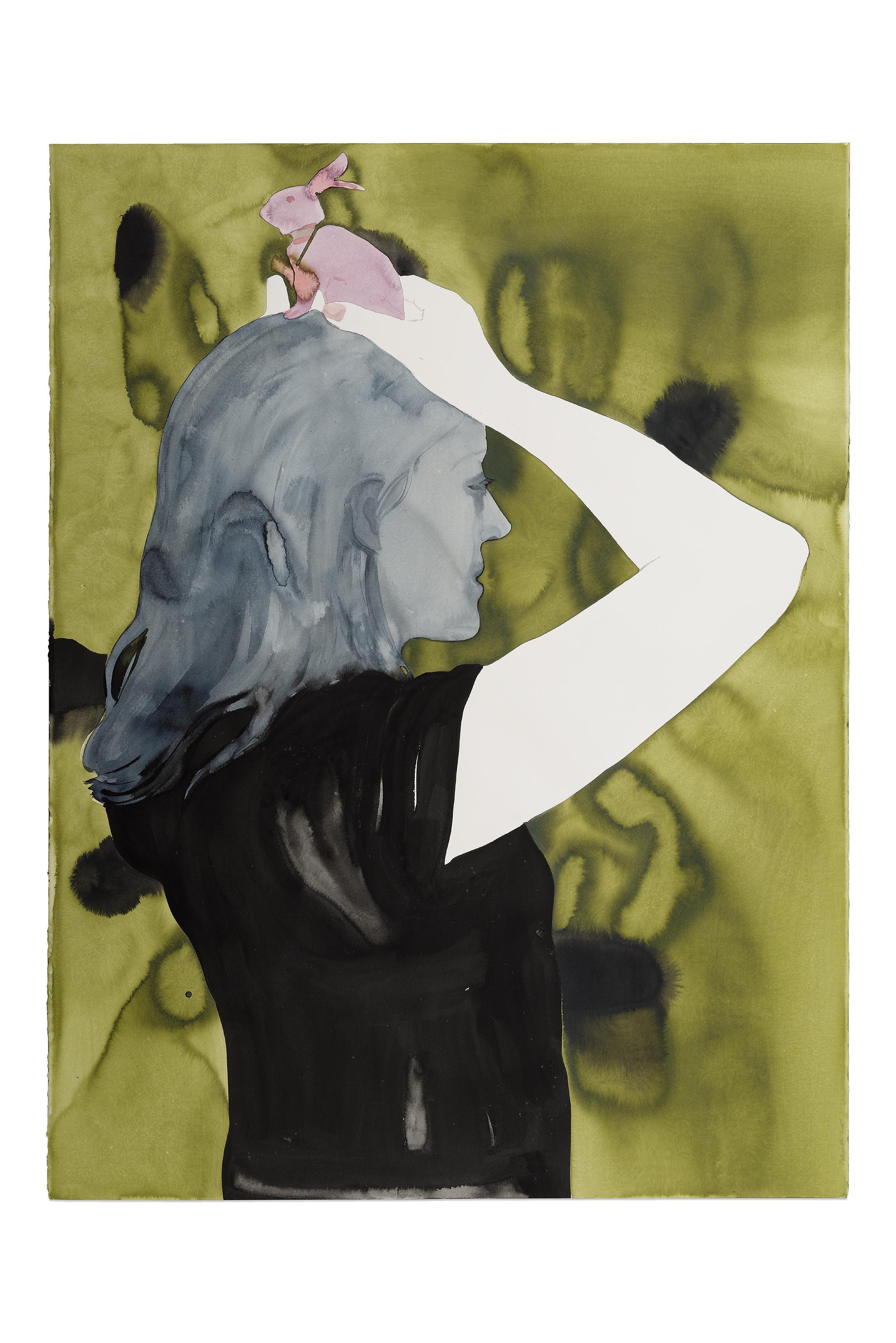 Françoise Pétrovitch, lavis d'encre, 120 x 160 cm, 2016