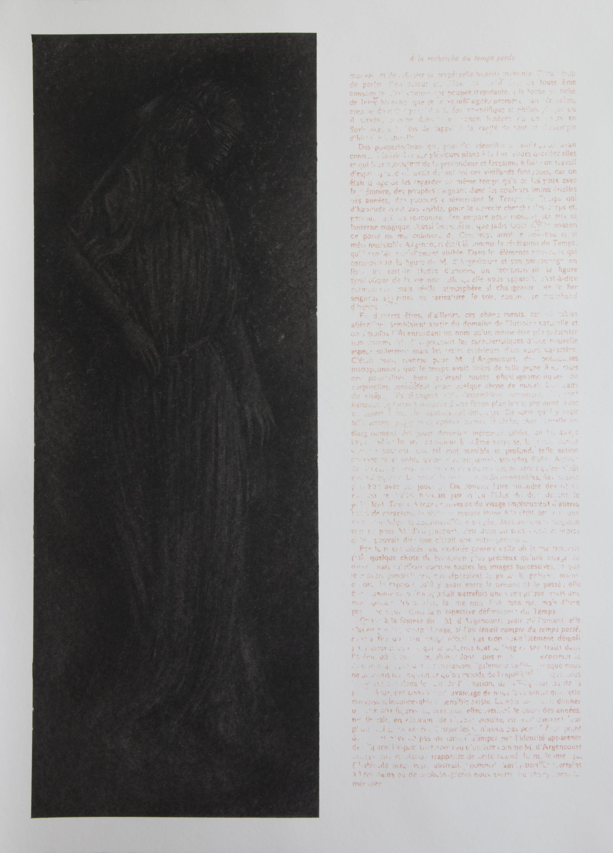 """Jérémie Bennequin, """"La Synagogue"""", fusain et pastel sur papier, 91,5 x 66,5 cm, 2016"""