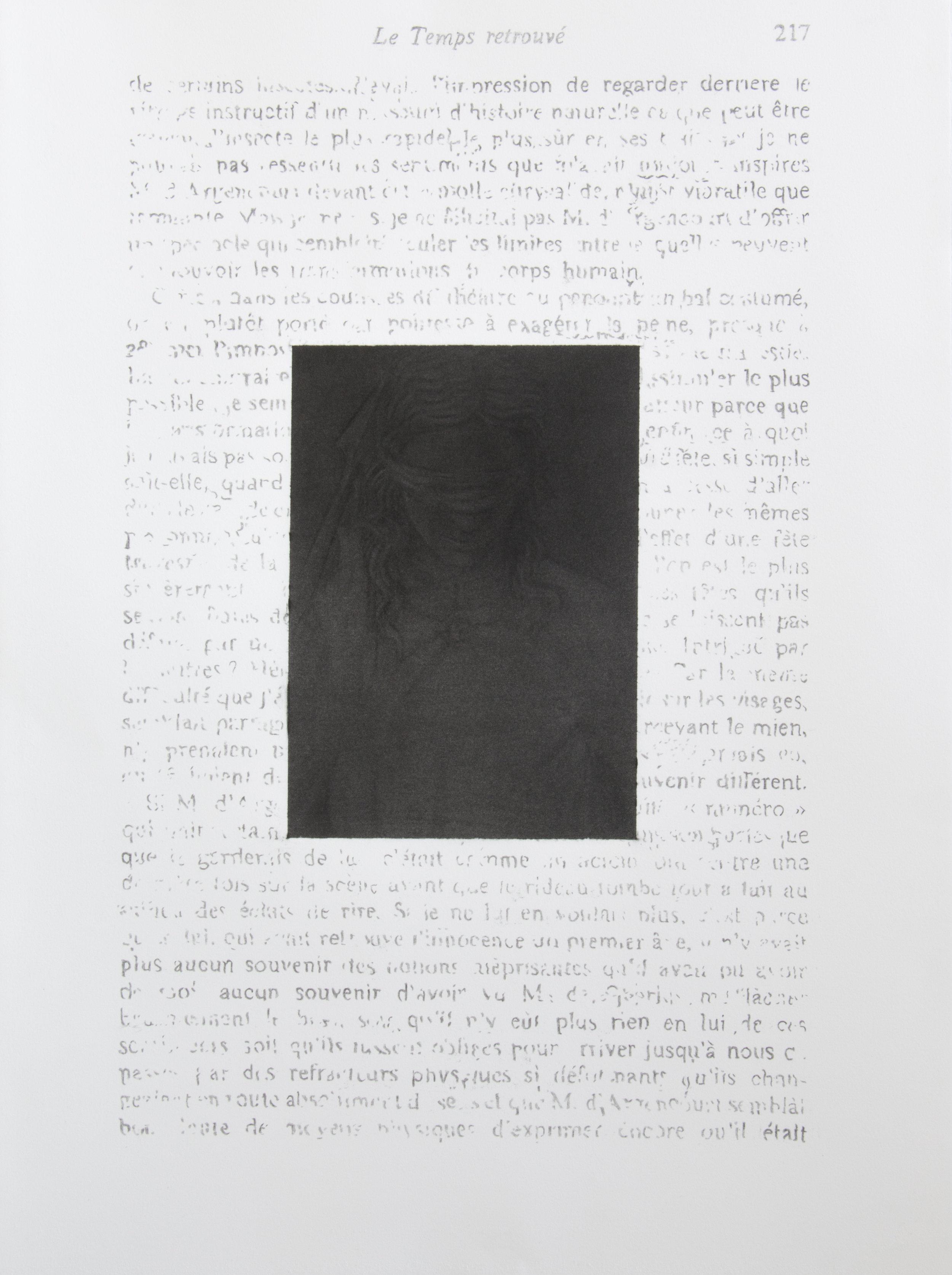 """Jérémie Bennequin, """"Être au commencement de nouveau"""", fusain sur papier, 76 x 57 cm, 2017"""