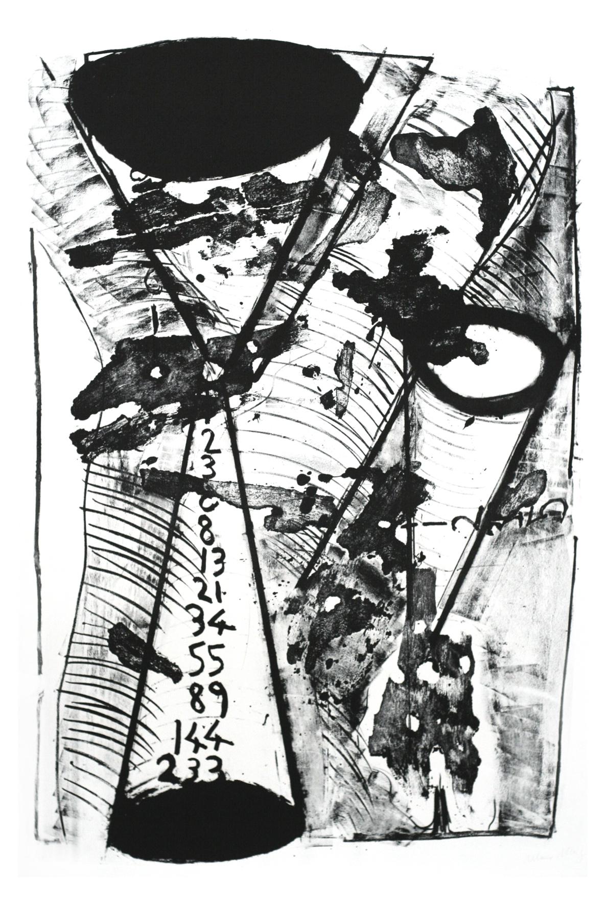 """Mario Merz, """"Sans titre II"""", lithographie,120 x 80 cm, édition sur demande"""