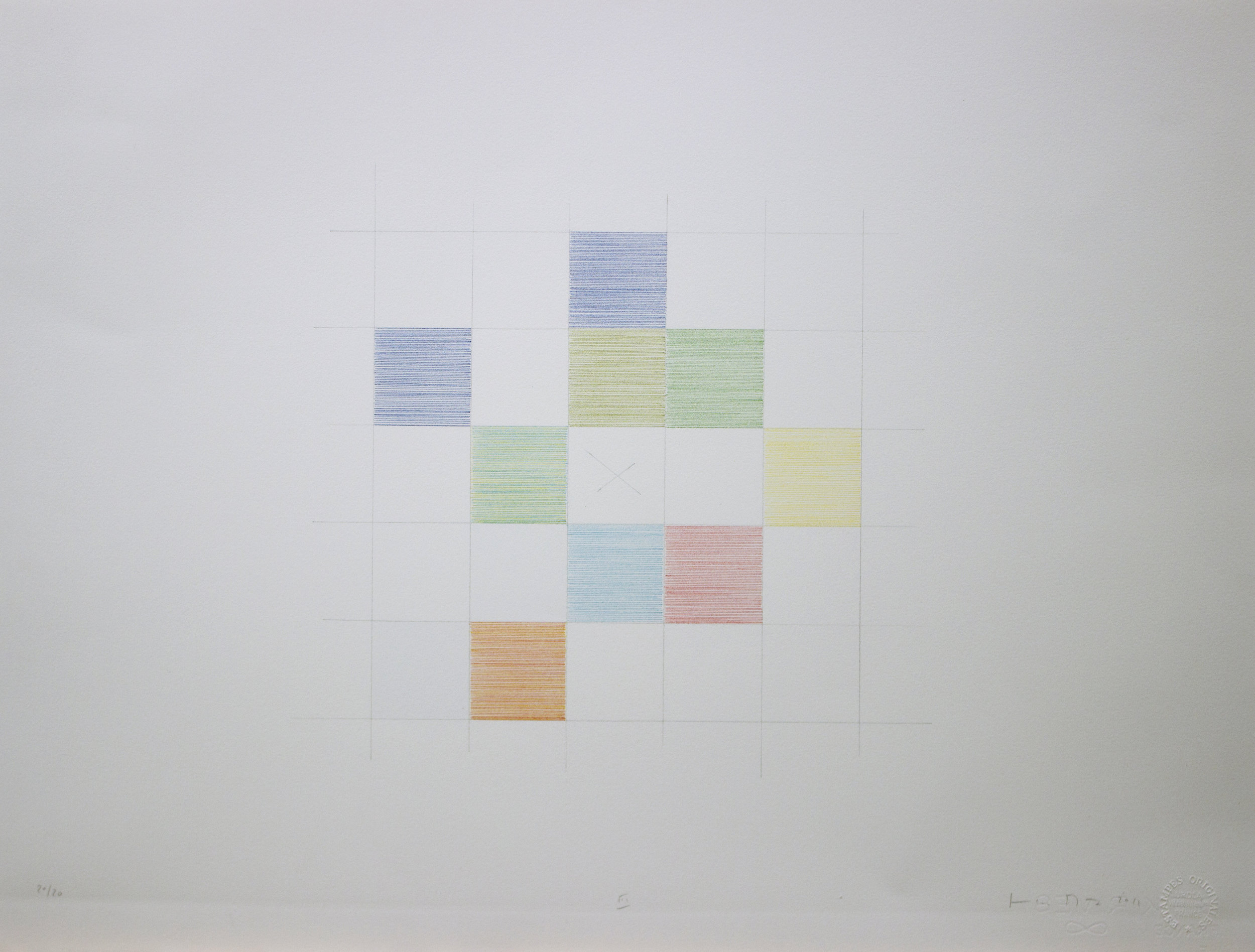 """Jean-Luc Manz, """"Sans titre"""", lithographie,50 x 65 cm, édition sur demande"""
