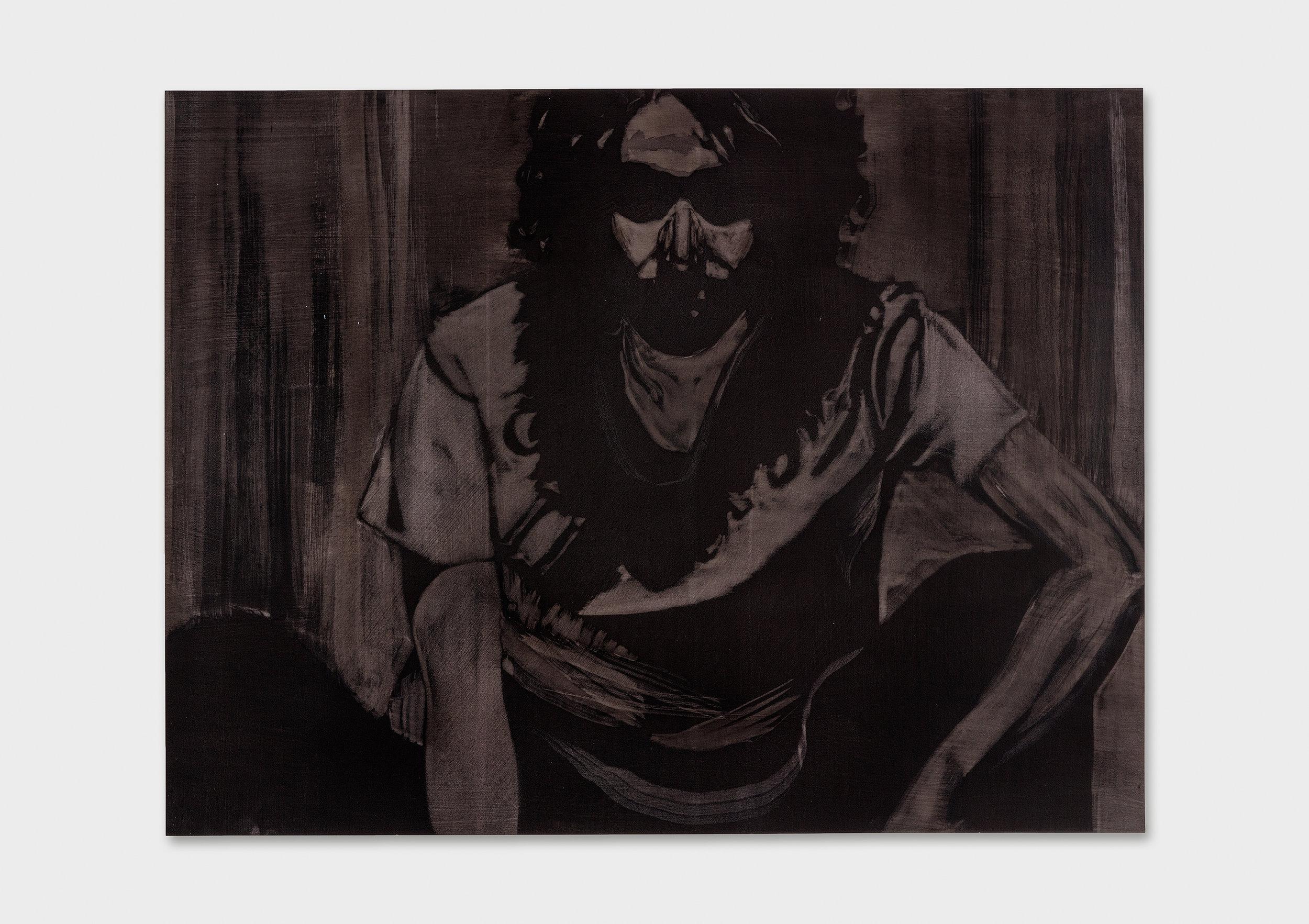 "Michael Rampa, ""Swipe 9"", aquarelle sur papier, 56 x 76 cm, 2017."