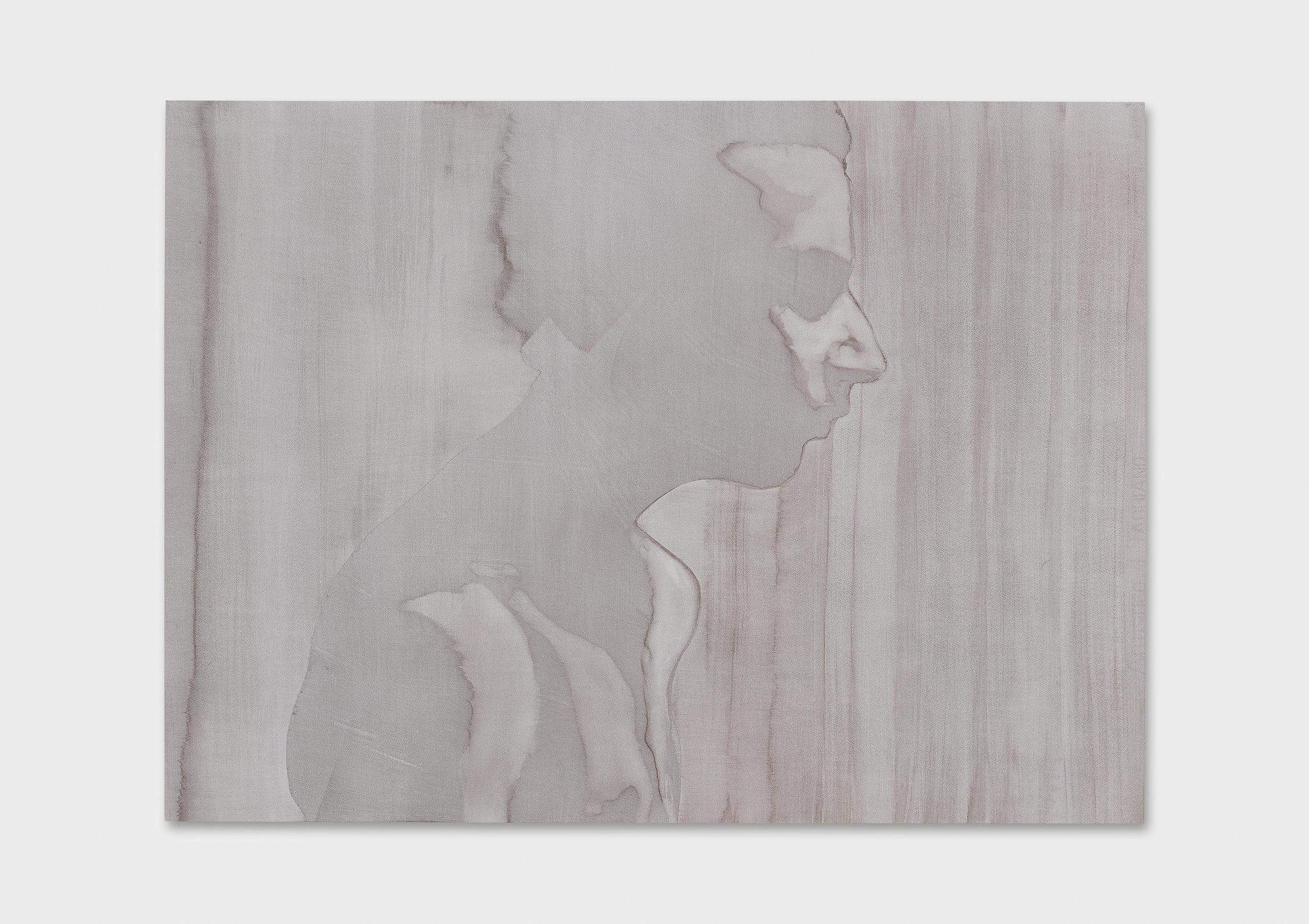 "Michael Rampa, ""Swipe 14"", aquarelle sur papier, 56 x 76 cm, 2017."