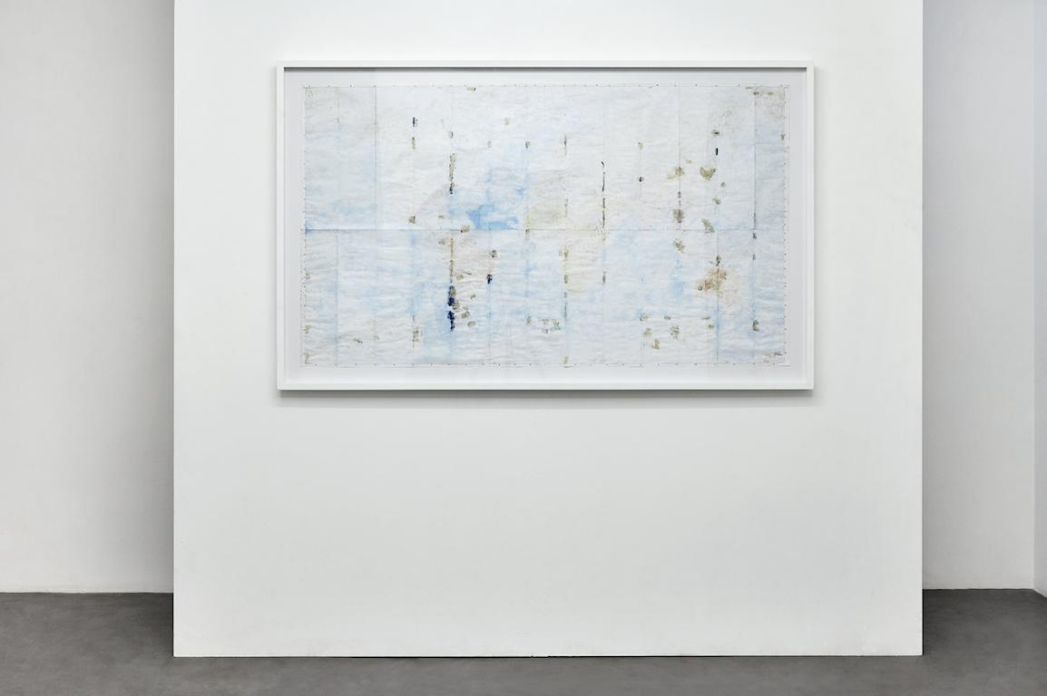 Jean-Christophe Norman,de la série «Mundo Diffuso», effacement sur carte géographique ,140,5×80 cm, 2013. Courtesy Galerie C