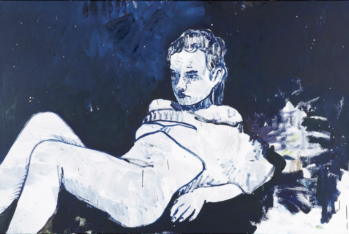 """Niklaus Manuel Güdel, """"Julia"""", huile sur toile, 120x80 cm, 2016-2017."""