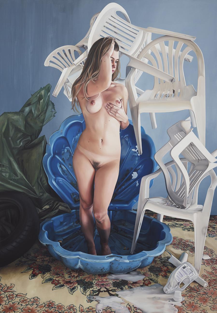 "Till Rabus, ""Venus"", huile sur toile, 160x230 cm, 2013."