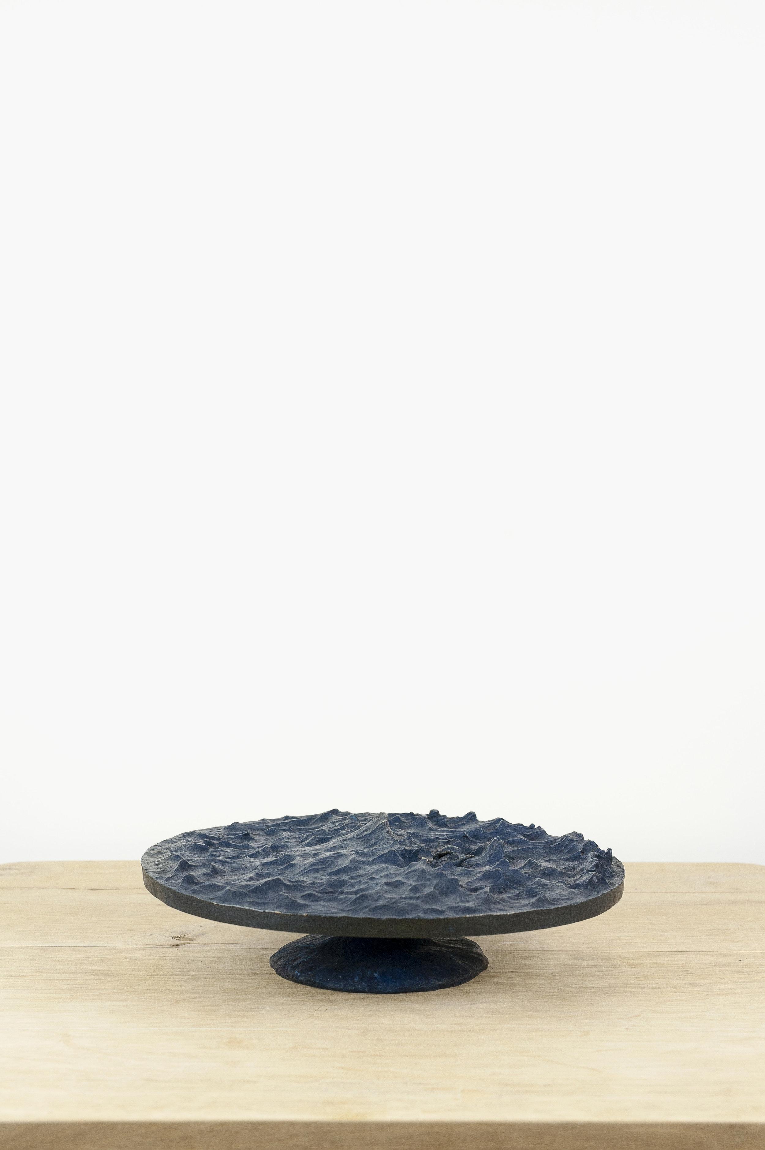 """Nicolas Darrot, """"Tempête"""", de la série """"Les Eléments"""", Bronze, 30 x 30 x 8 cm, 2016. ,"""
