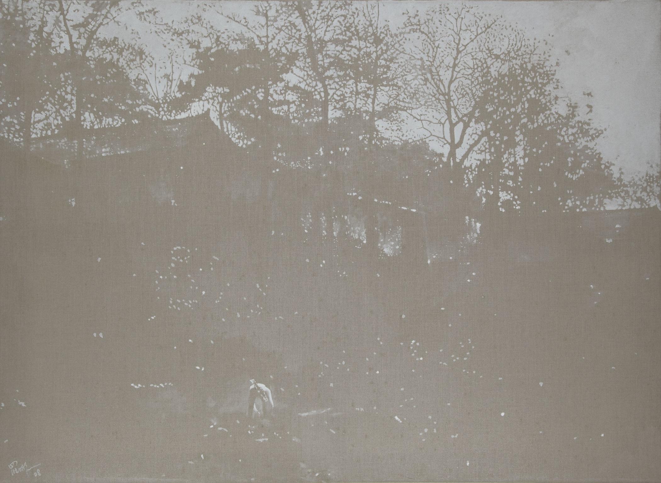 "© Mingjun Luo, ""The Way Home 2"", huile sur toile, 110 x 150 cm, 2009, Courtesy Galerie C."