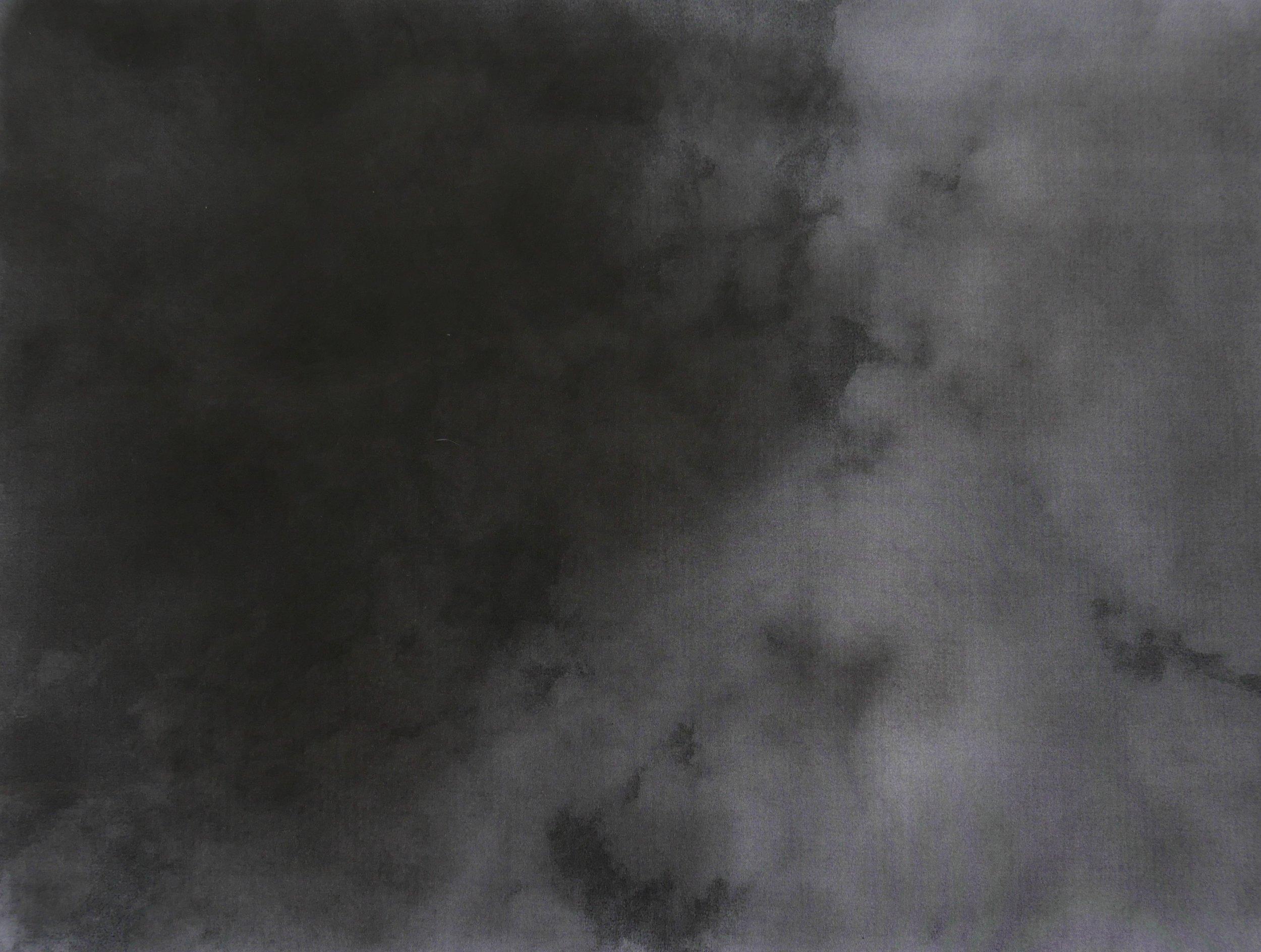 """Jean-Christophe Norman, """"Boomerang"""" (Rome), encre, graphite et pierre noire sur papier, 29,7x42 cm, 2017."""