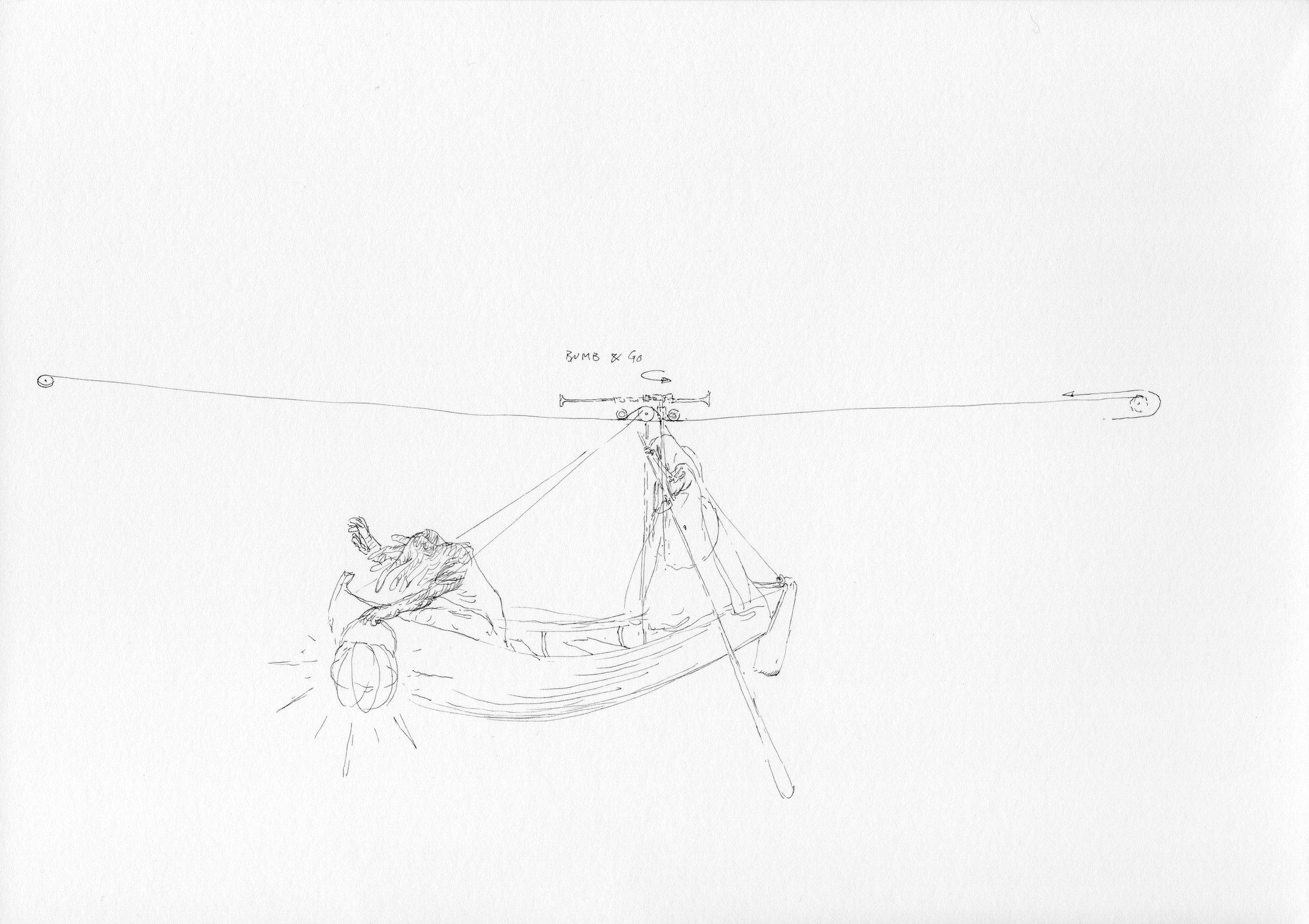 """© Nicolas Darrot, """"Sans titre"""" (079), encre de Chine sur papier, 42x39,7 cm, 2019."""