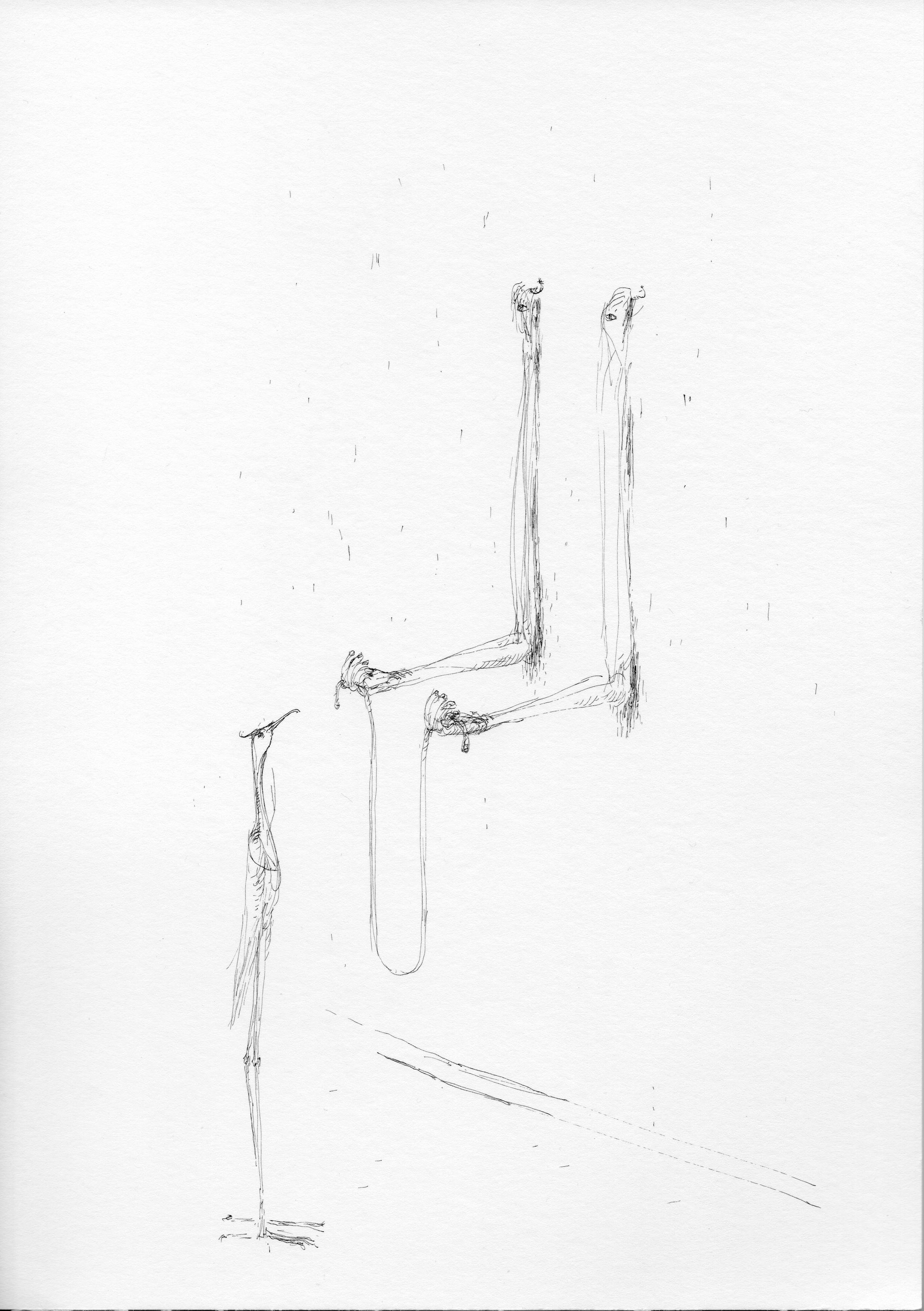 """© Nicolas Darrot, """"Sans titre"""" (081), encre de Chine sur papier, 39,7x42 cm, 2019."""
