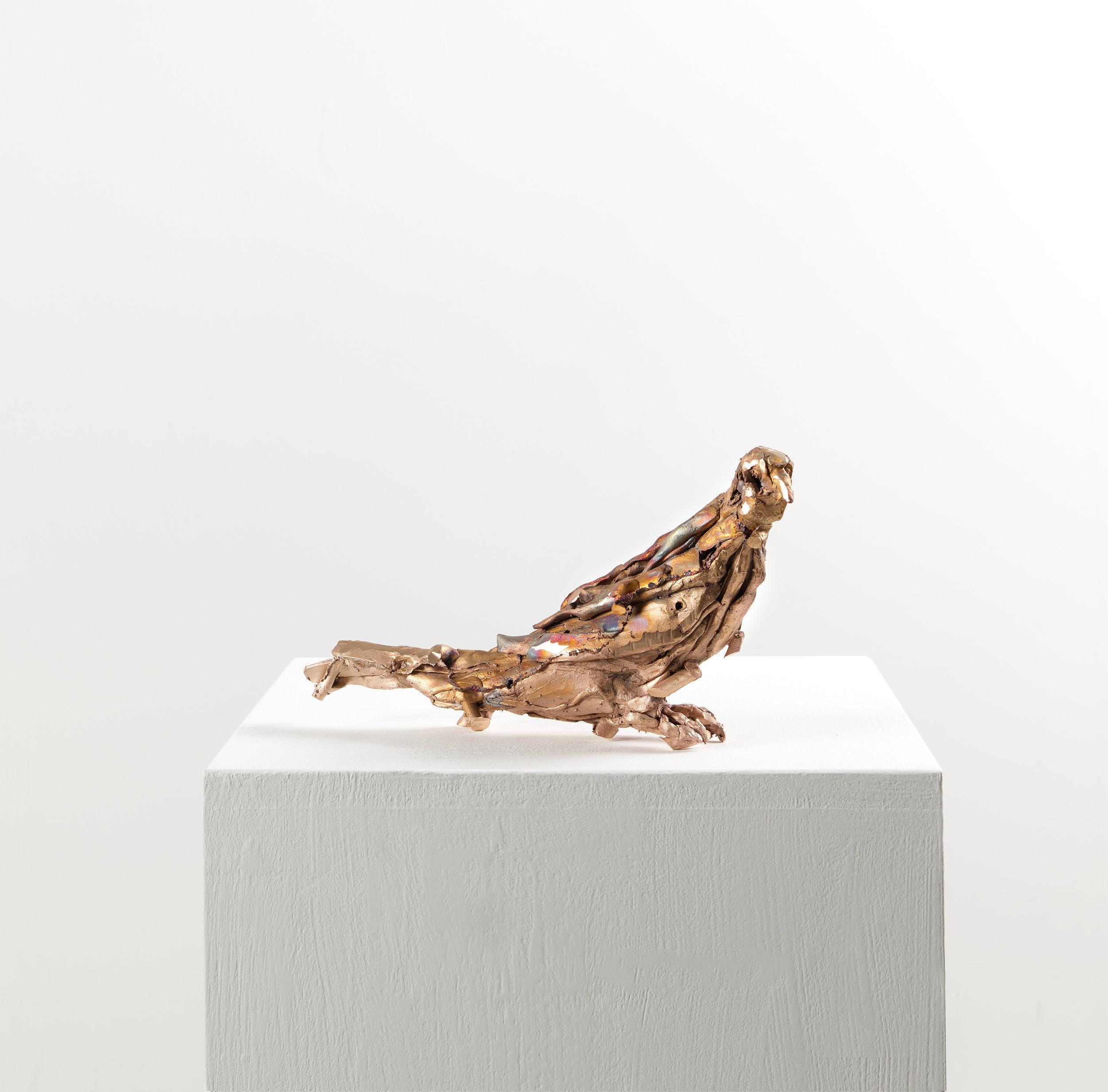 Lionel Sabatté, « Colombe », bronze, 16,5×31×6 cm, 2019, tirage unique.