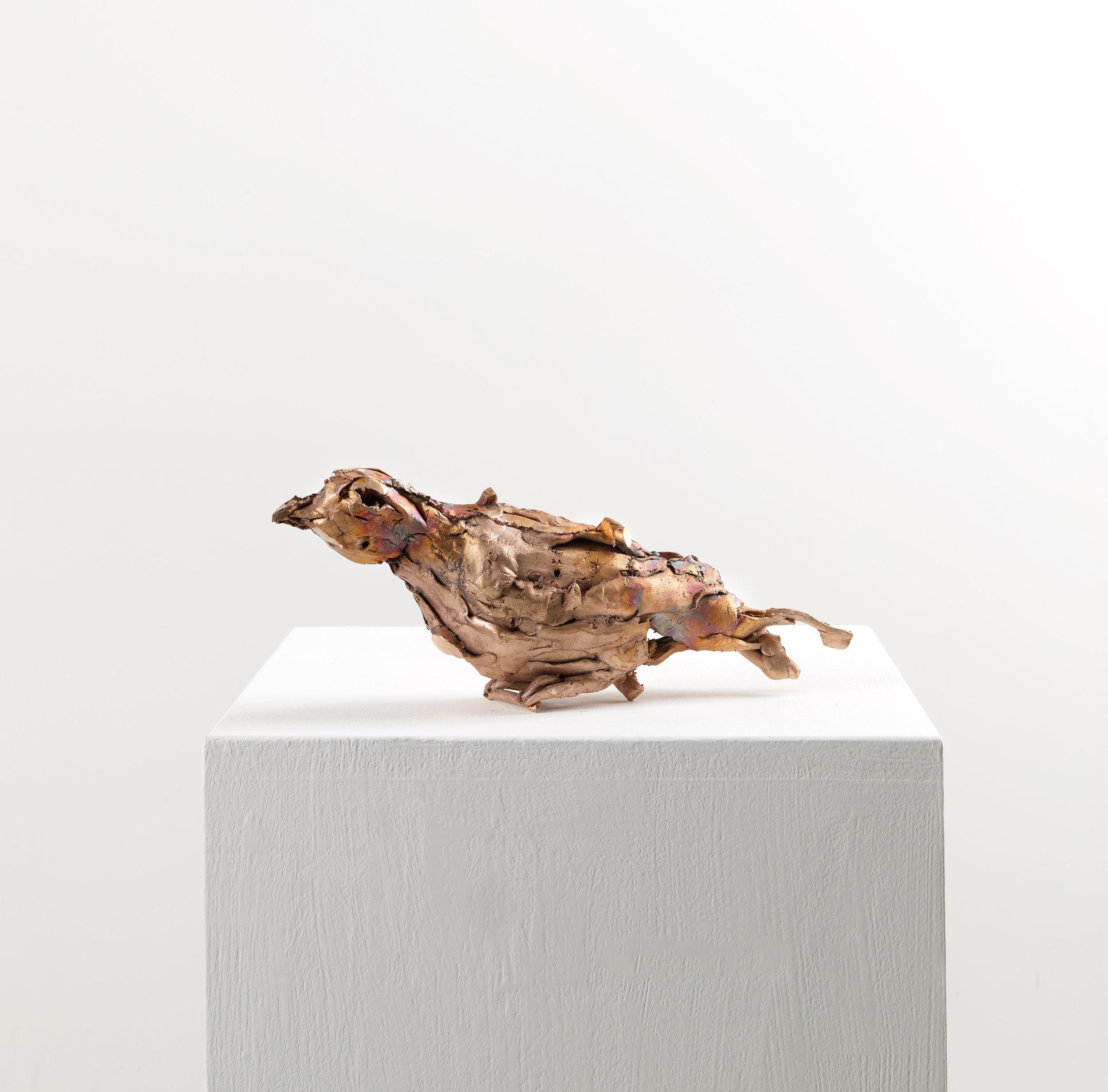 Lionel Sabatté, « Colombe du 15.01.19 », bronze, 14,5×34×7,5 cm, 2019, Tirage unique.
