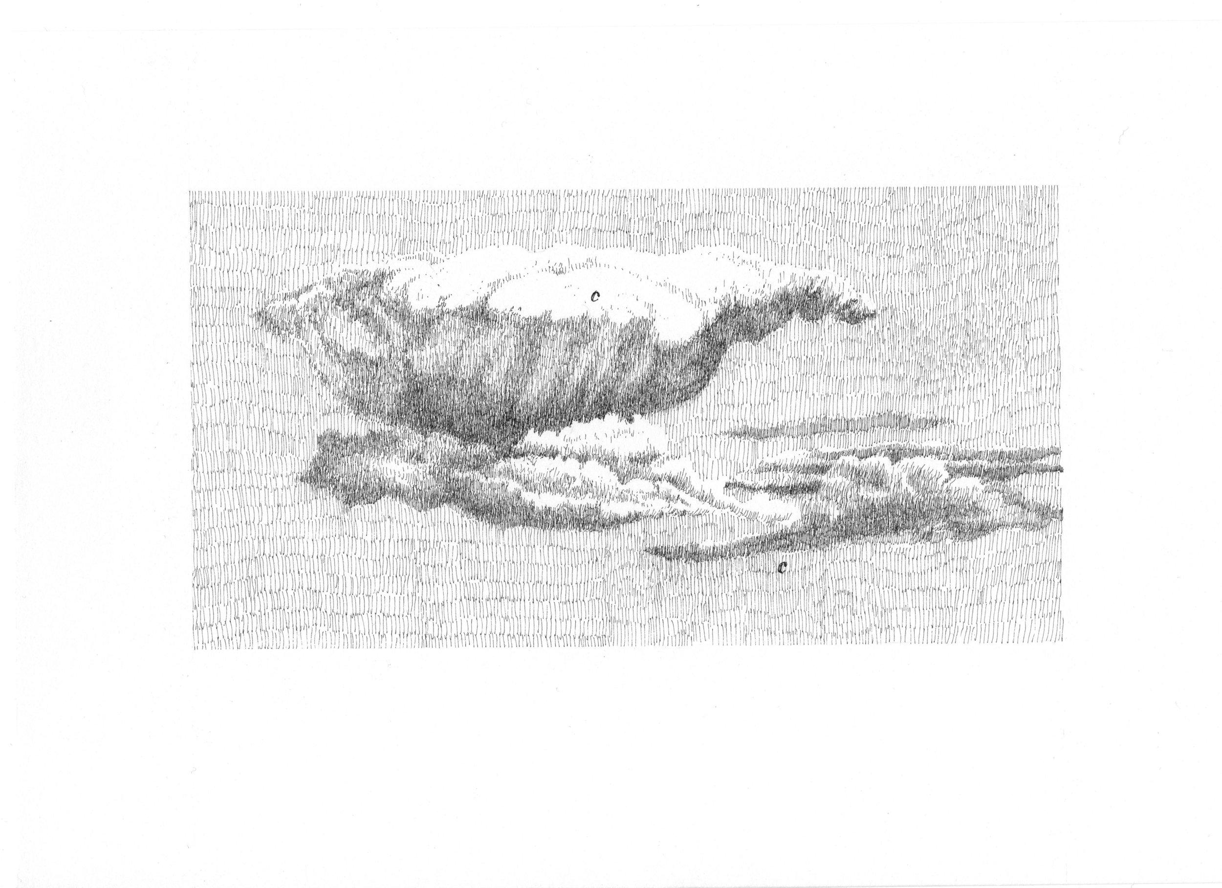 Nicolas Darrot, de la série « Le Château », encre de chine sur papier, 20×30 cm, 2019