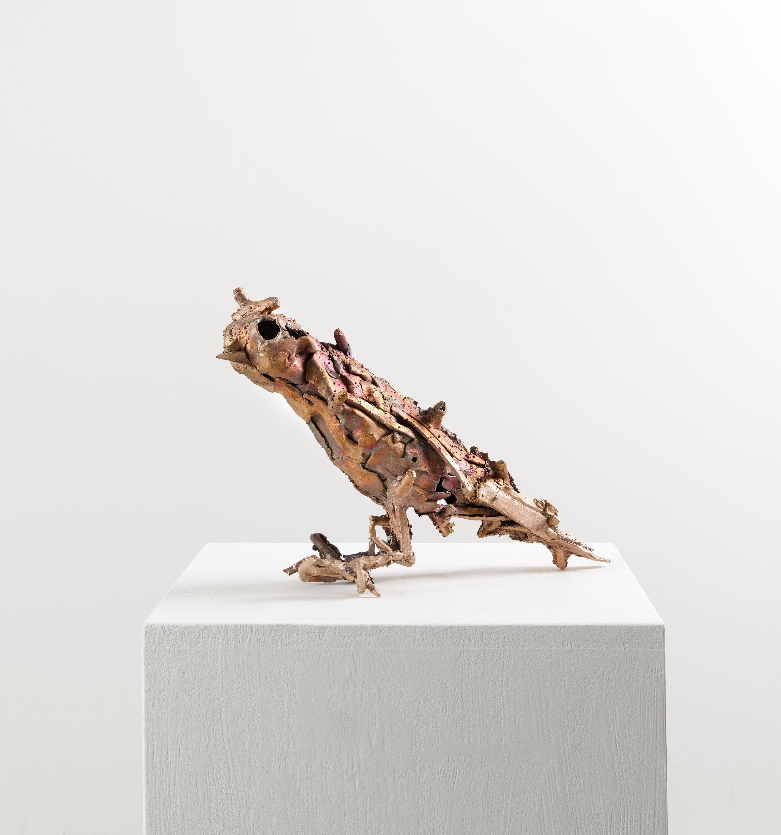 "Lionel Sabatté, ""Volatile Hector"", bronze, tirage unique, 25,5x39x13 cm, 2019."