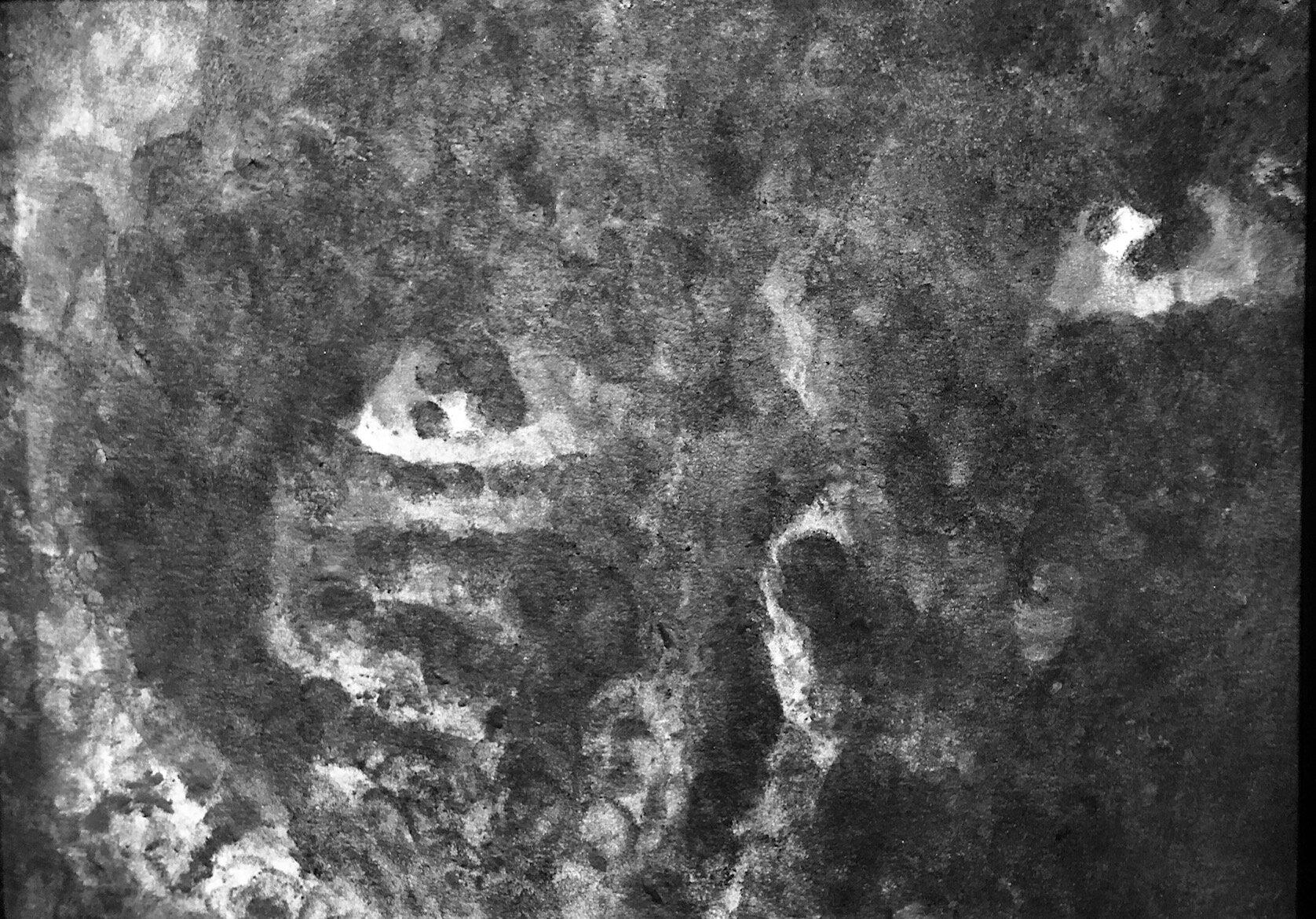 © Jérôme Zonder, « Fruit du cinéma #18 », fusain et mine de plomb sur papier, 24×32 cm, 2019.