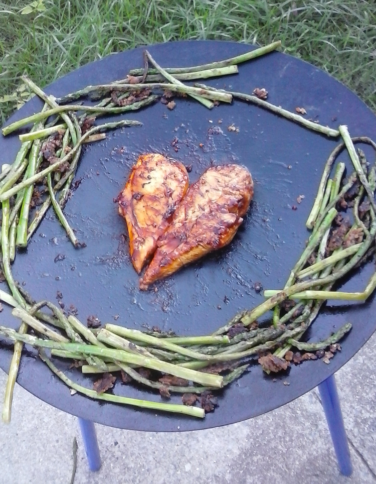 Barbeque Chicken & Grilled Asparagus