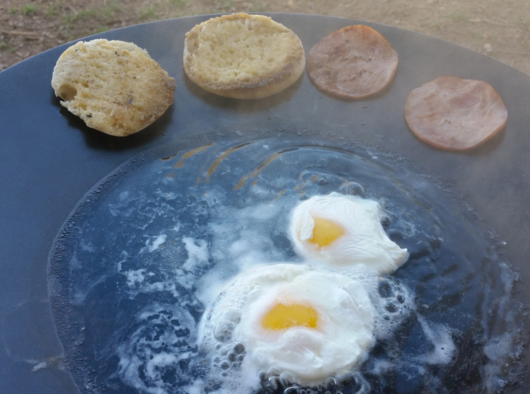 Poached Eggs & Canadian Bacon