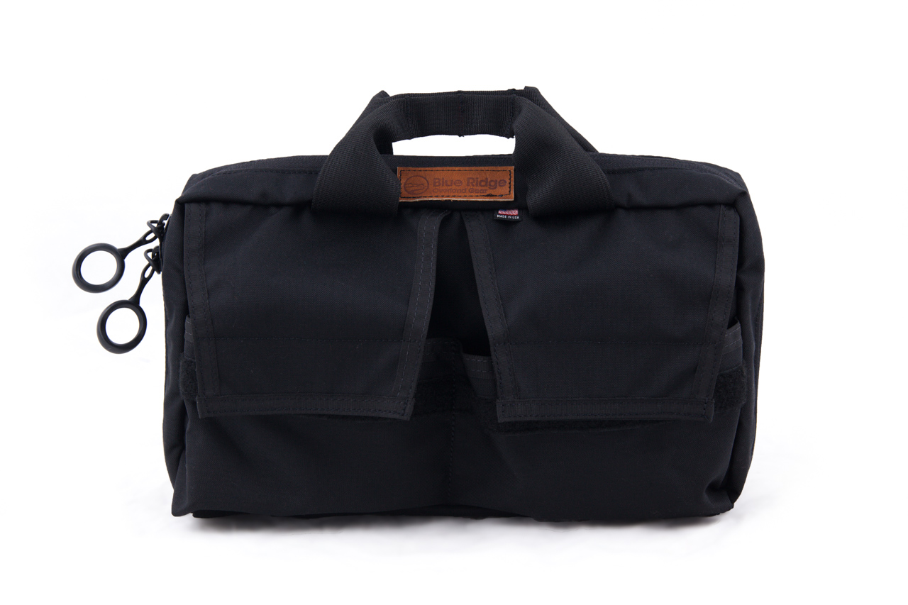 """Our Air Tool Kit Bag is made of made of tough, 500D Cordura. It features two, large rubber zipper pulls that are easy to grasp, even while wearing gloves. The bag features two, durable, 2"""" mil-spec webbing handles for easy carry."""