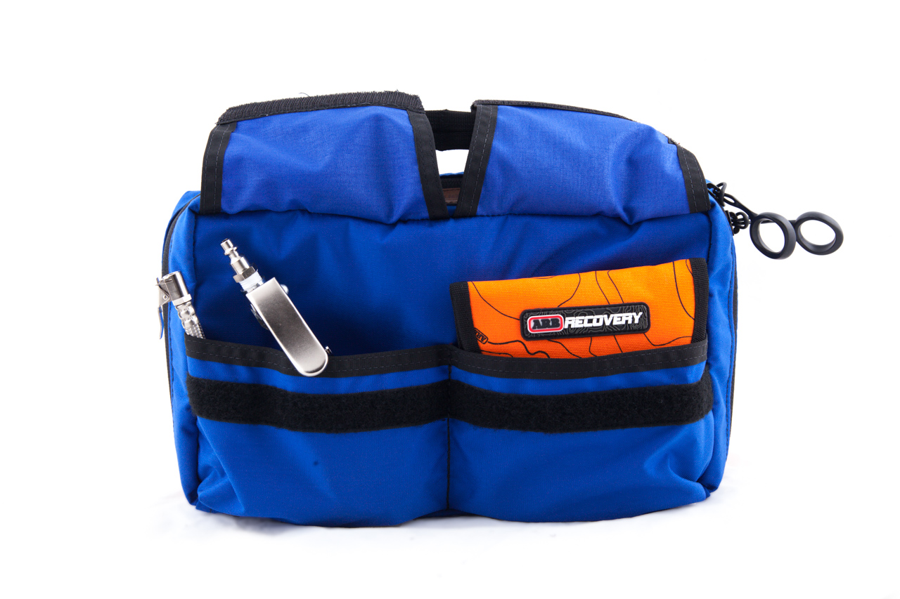 The two Velcro pockets on the front of the bag are great for storing deflators, inflators, small loose items, or gauges.